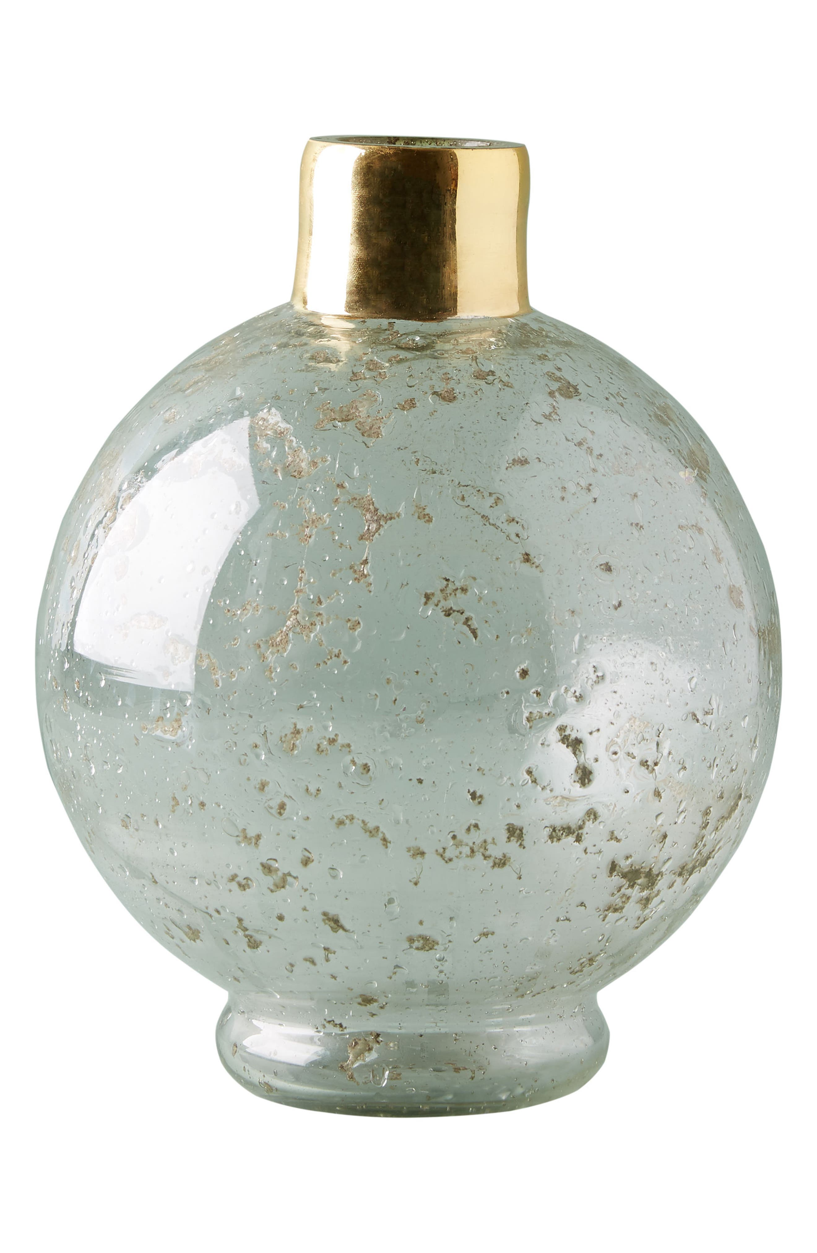 Alternate Image 2  - Anthropologie Gilded Round Vase