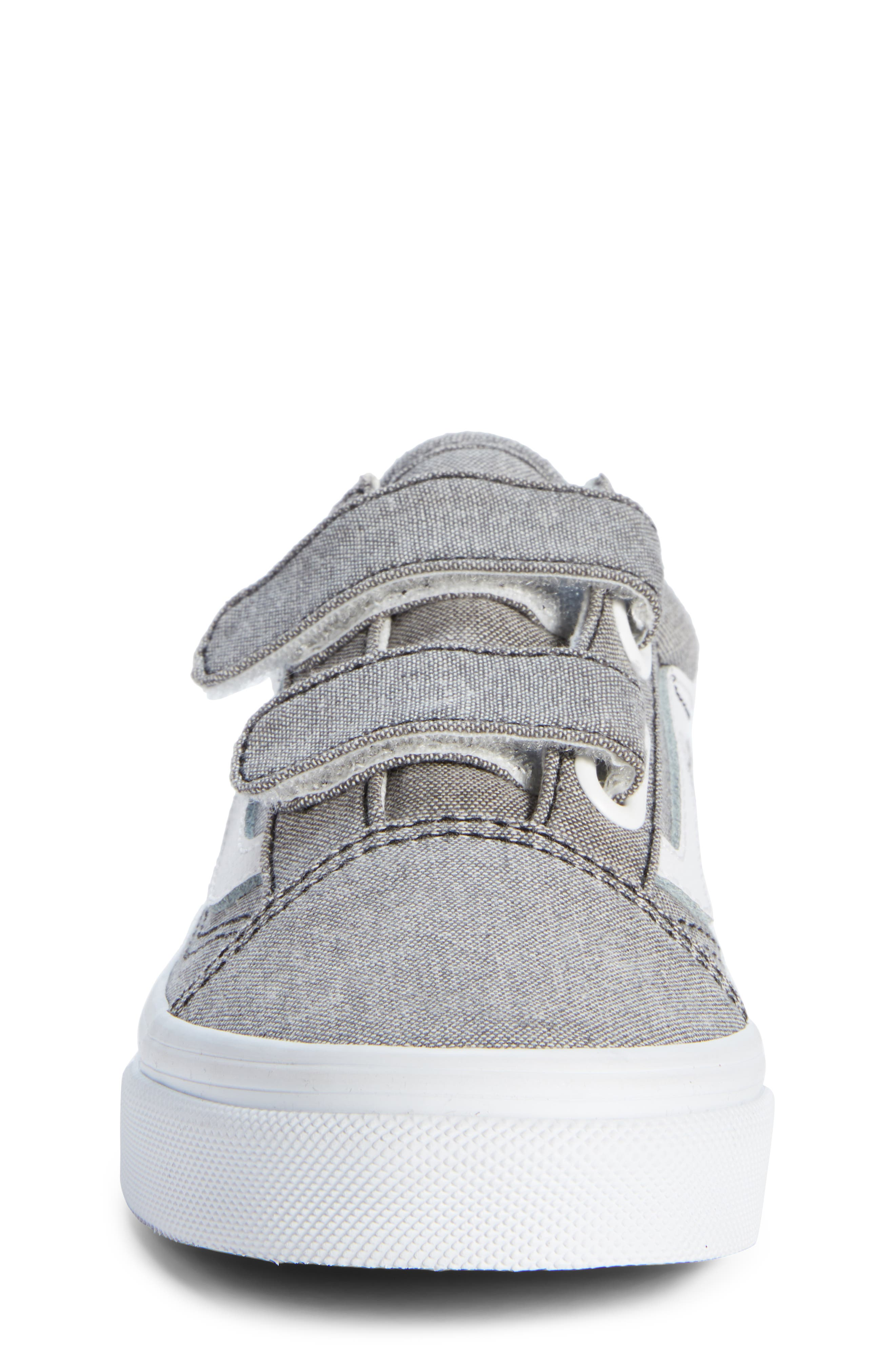 'Old Skool' Sneaker,                             Alternate thumbnail 4, color,                             Oxford Gray True White