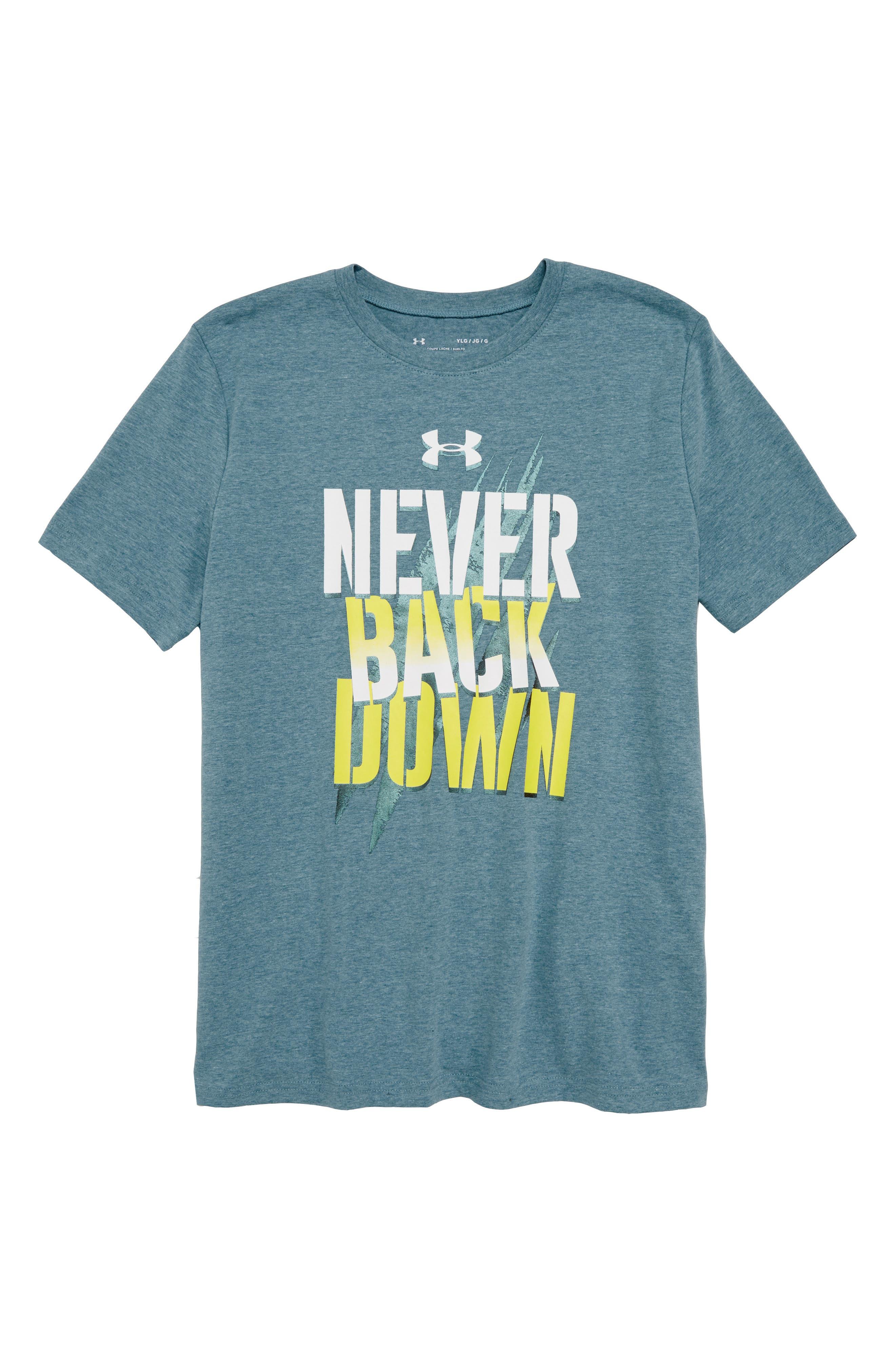 Under Armour Never Back Down HeatGear® Graphic T-Shirt (Big Boys)