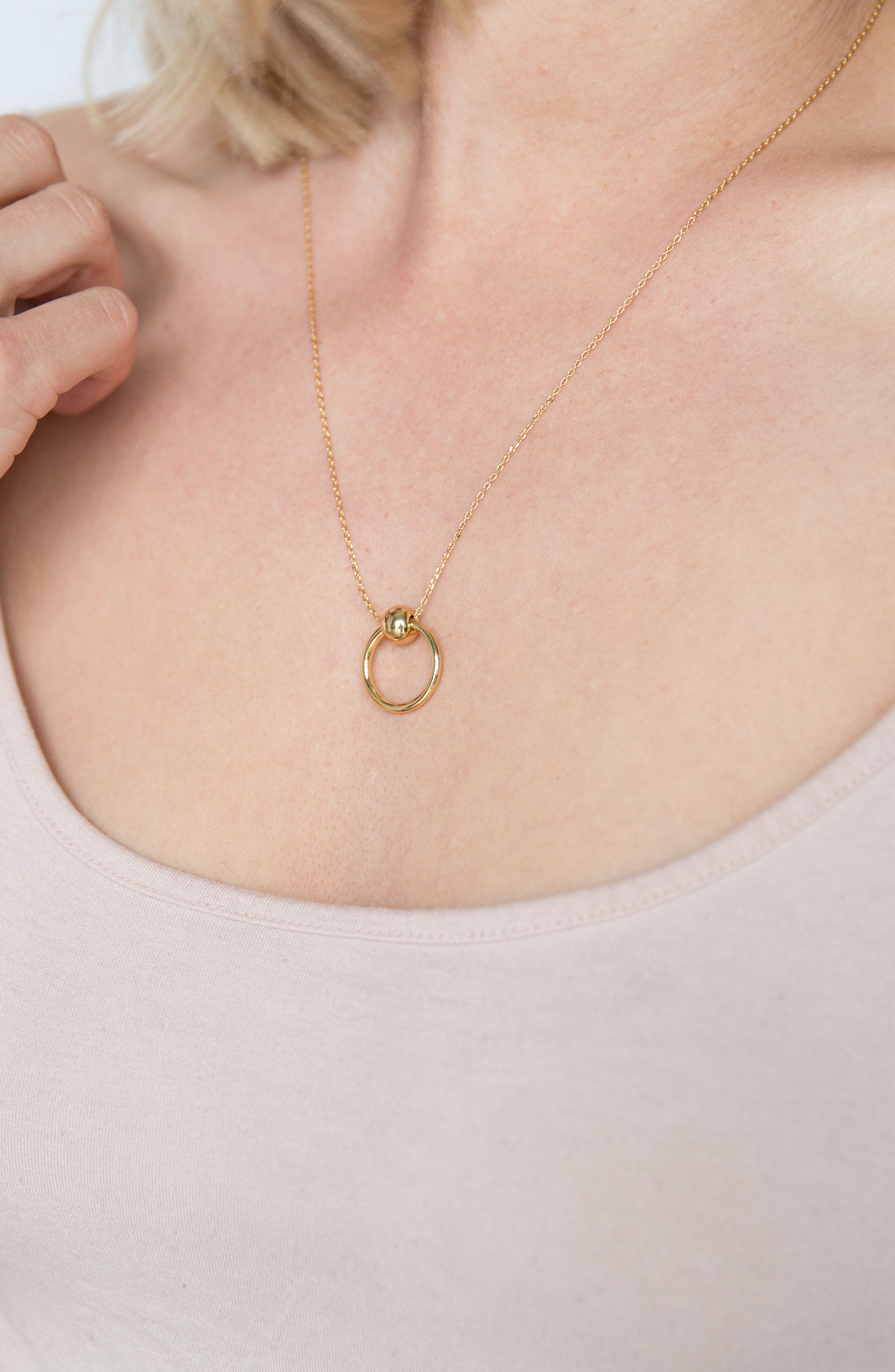 Helix Necklace,                             Alternate thumbnail 3, color,                             Gold