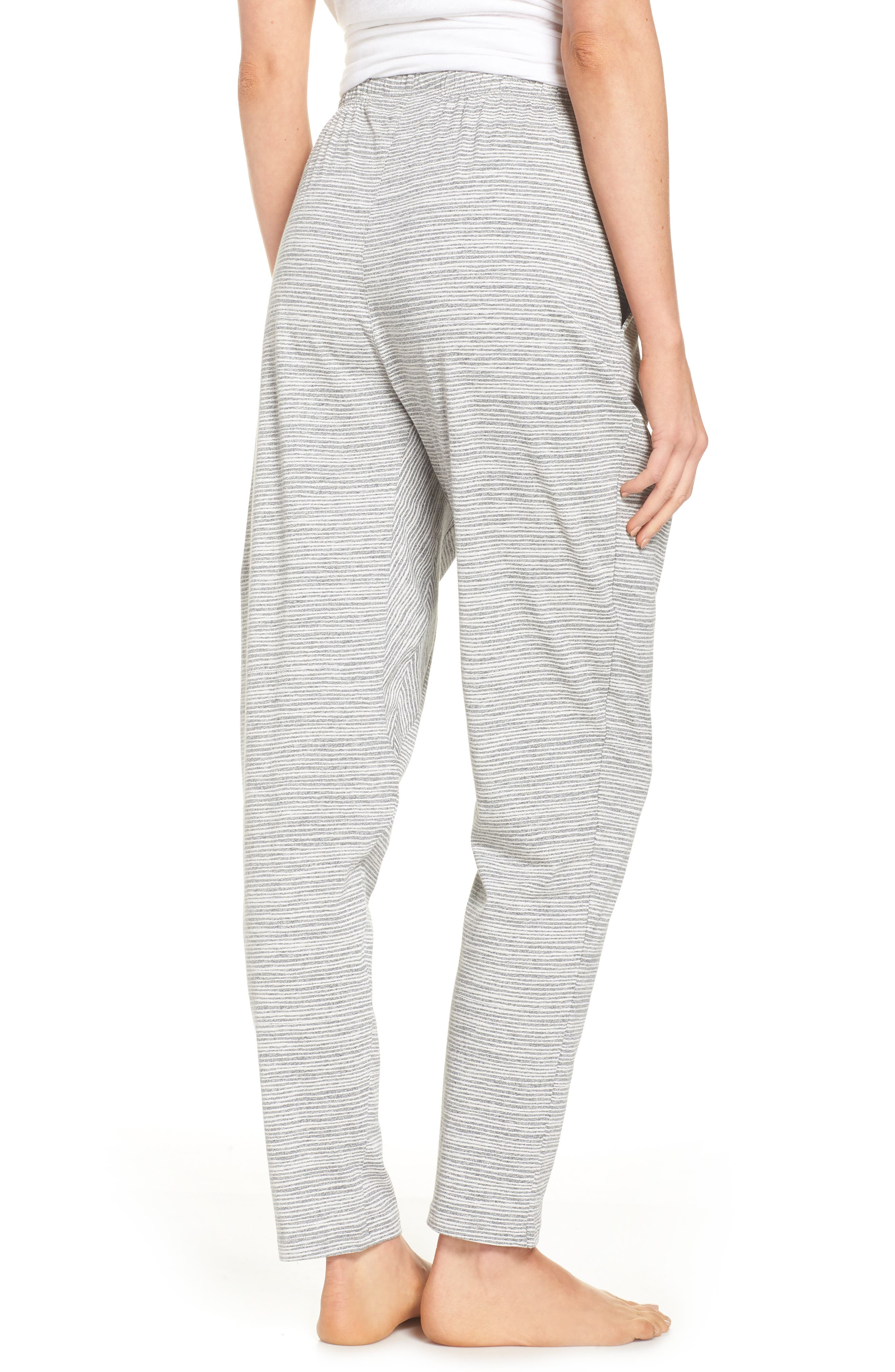 Ash Stripe Lounge Pants,                             Alternate thumbnail 2, color,                             Ash Marle Stripe