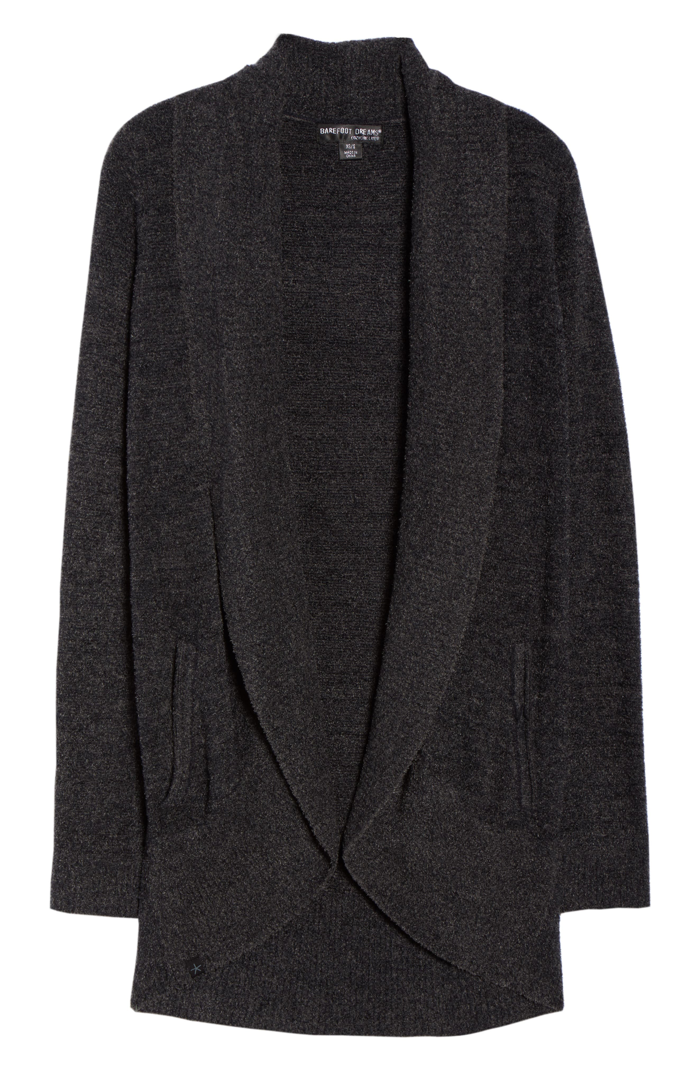 CozyChic Lite<sup>®</sup> Circle Cardigan,                             Alternate thumbnail 6, color,                             Carbon/ Black Heather
