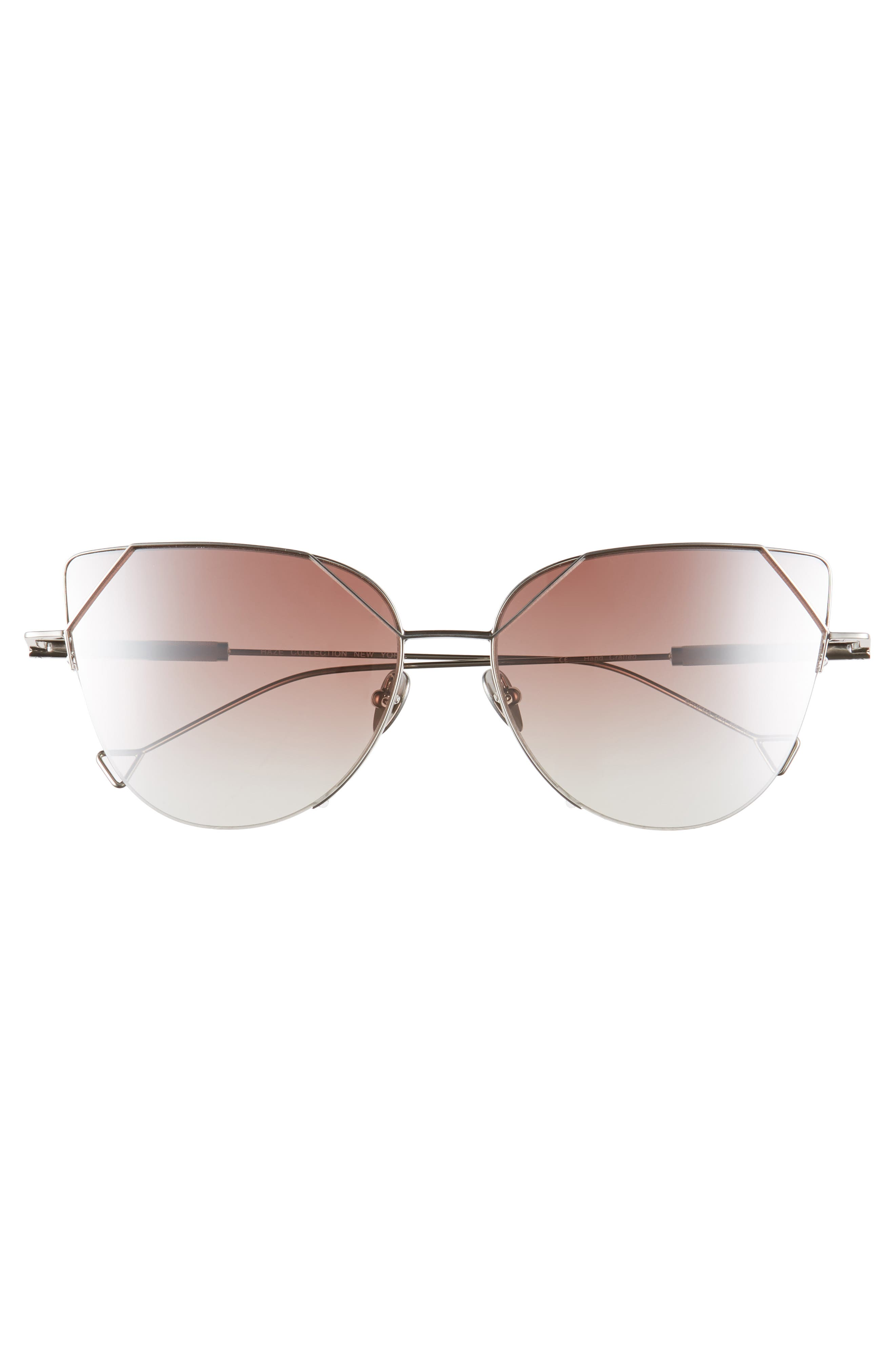The Schema 59mm Cat Eye Sunglasses,                             Alternate thumbnail 3, color,                             Pearl