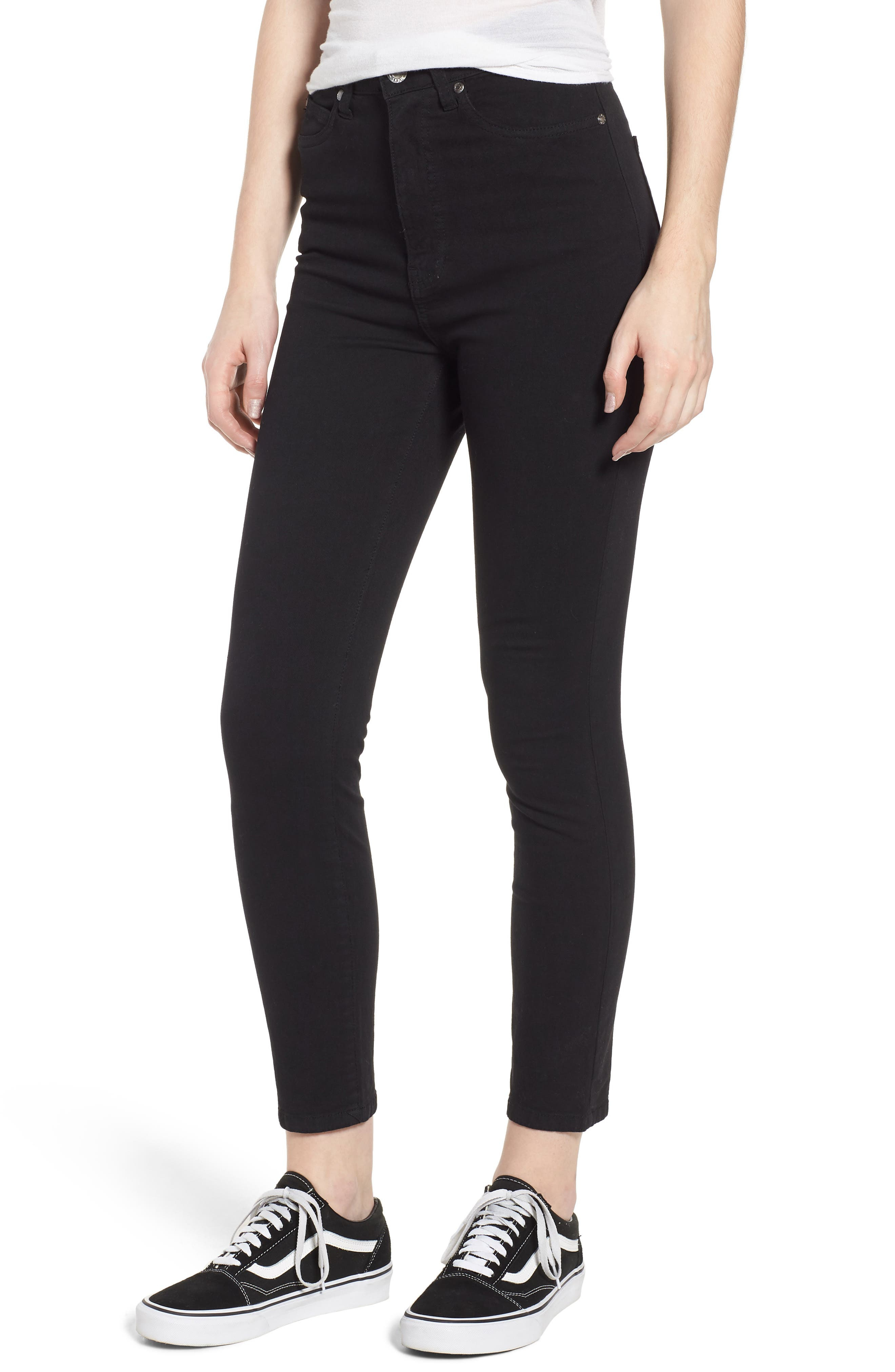 Cropa Cabana Skyhigh Crop Skinny Jeans,                         Main,                         color, Black