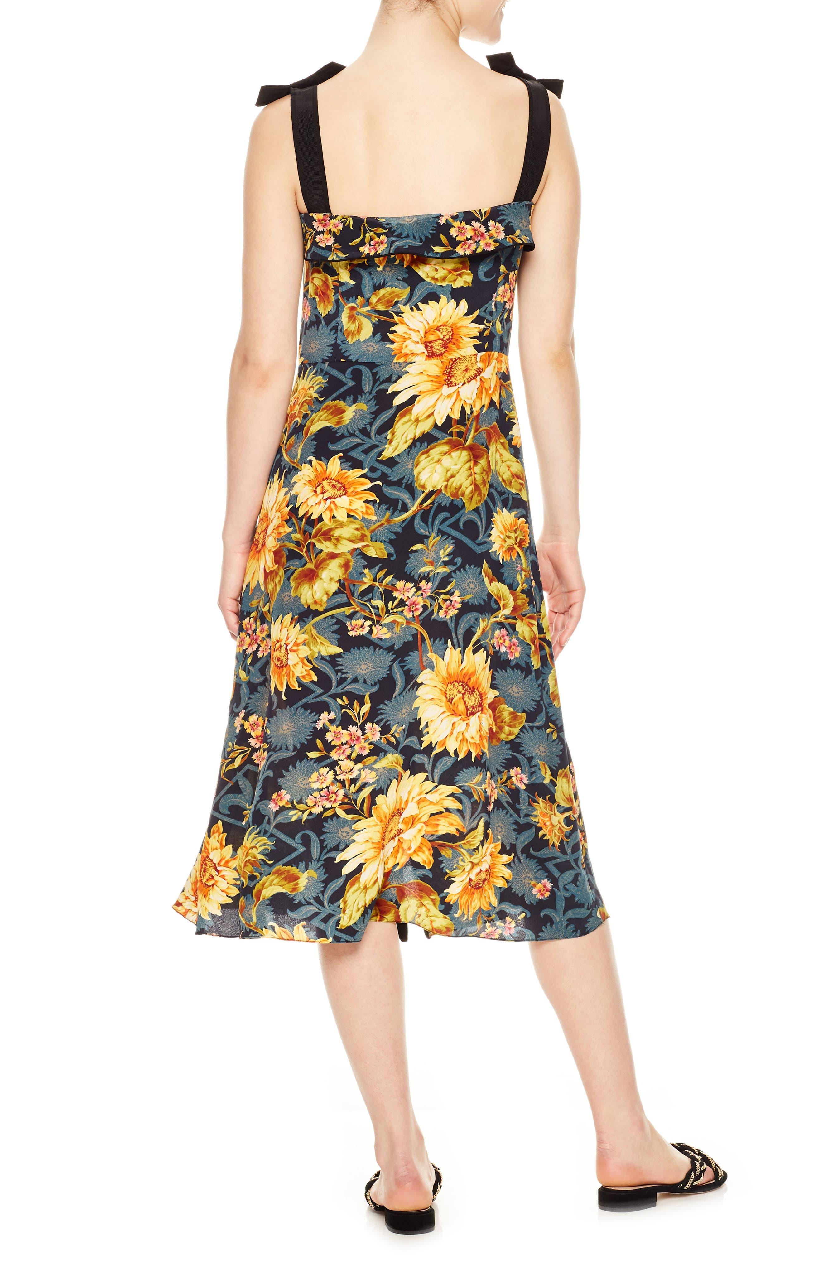 Floral Silk Sundress,                             Alternate thumbnail 2, color,                             Multicolore