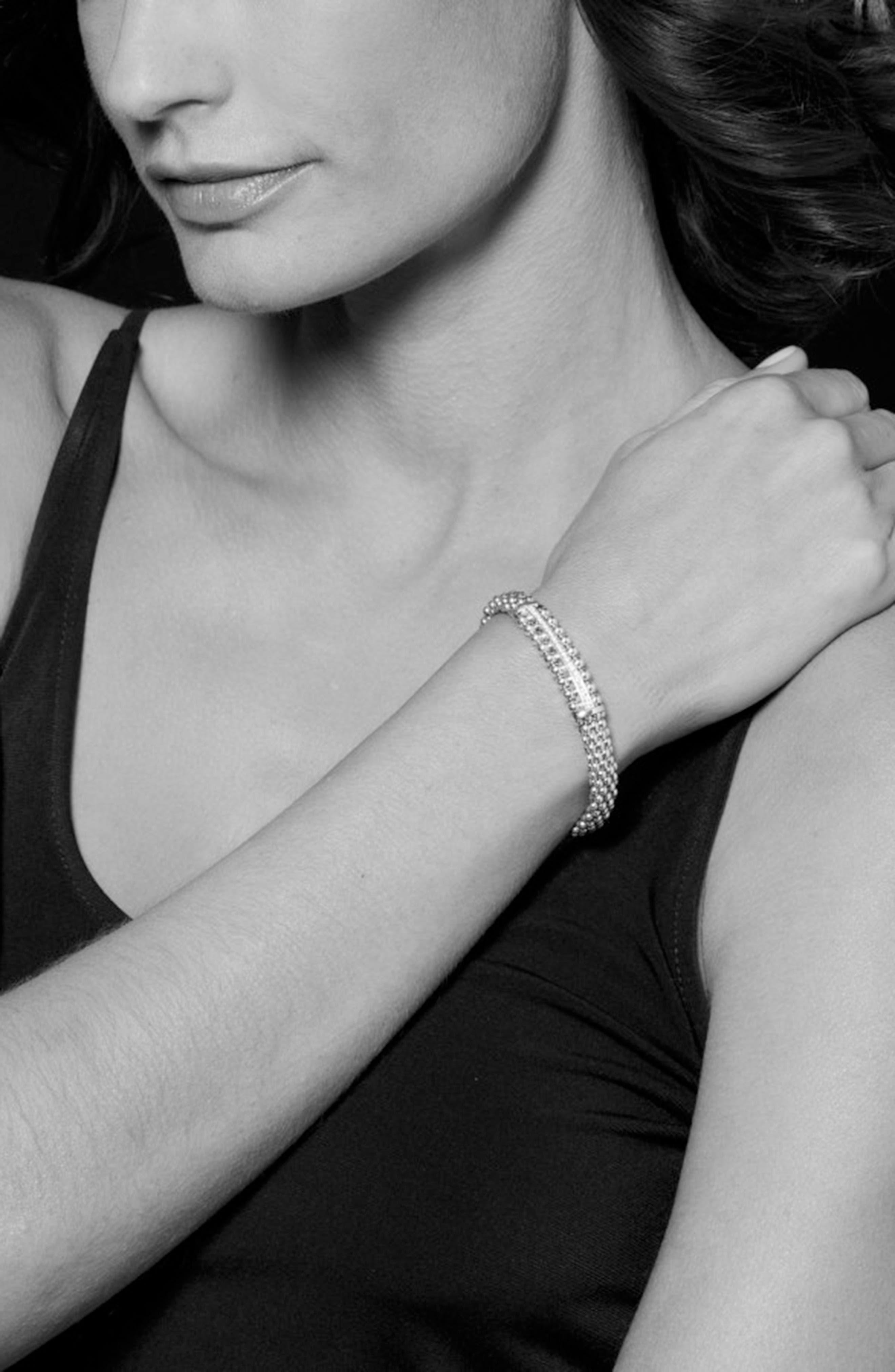 Spark Diamond Station Bracelet,                             Alternate thumbnail 5, color,                             Diamond