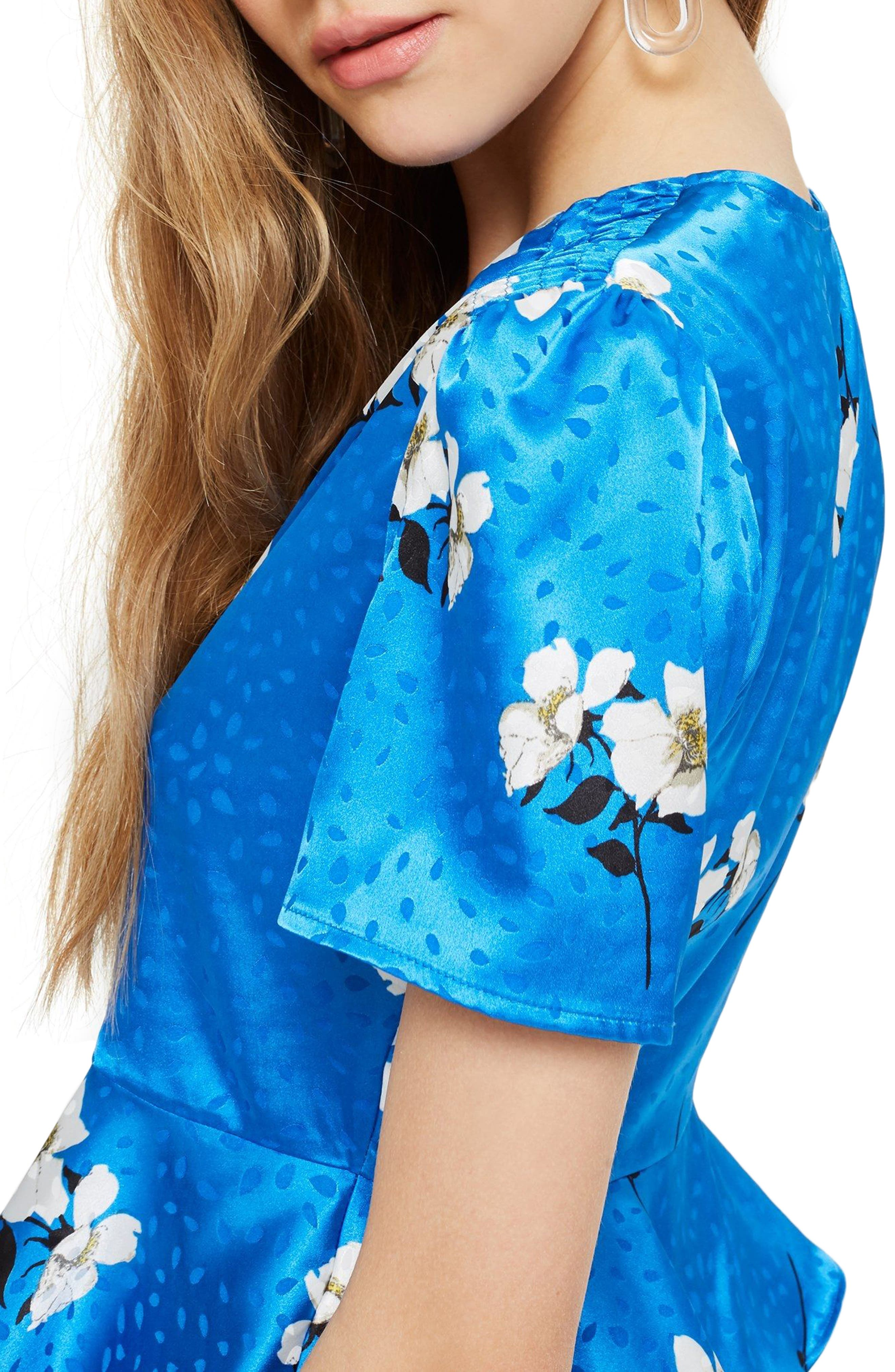 Alternate Image 3  - Topshop Gemma Jacquard Button Blouse