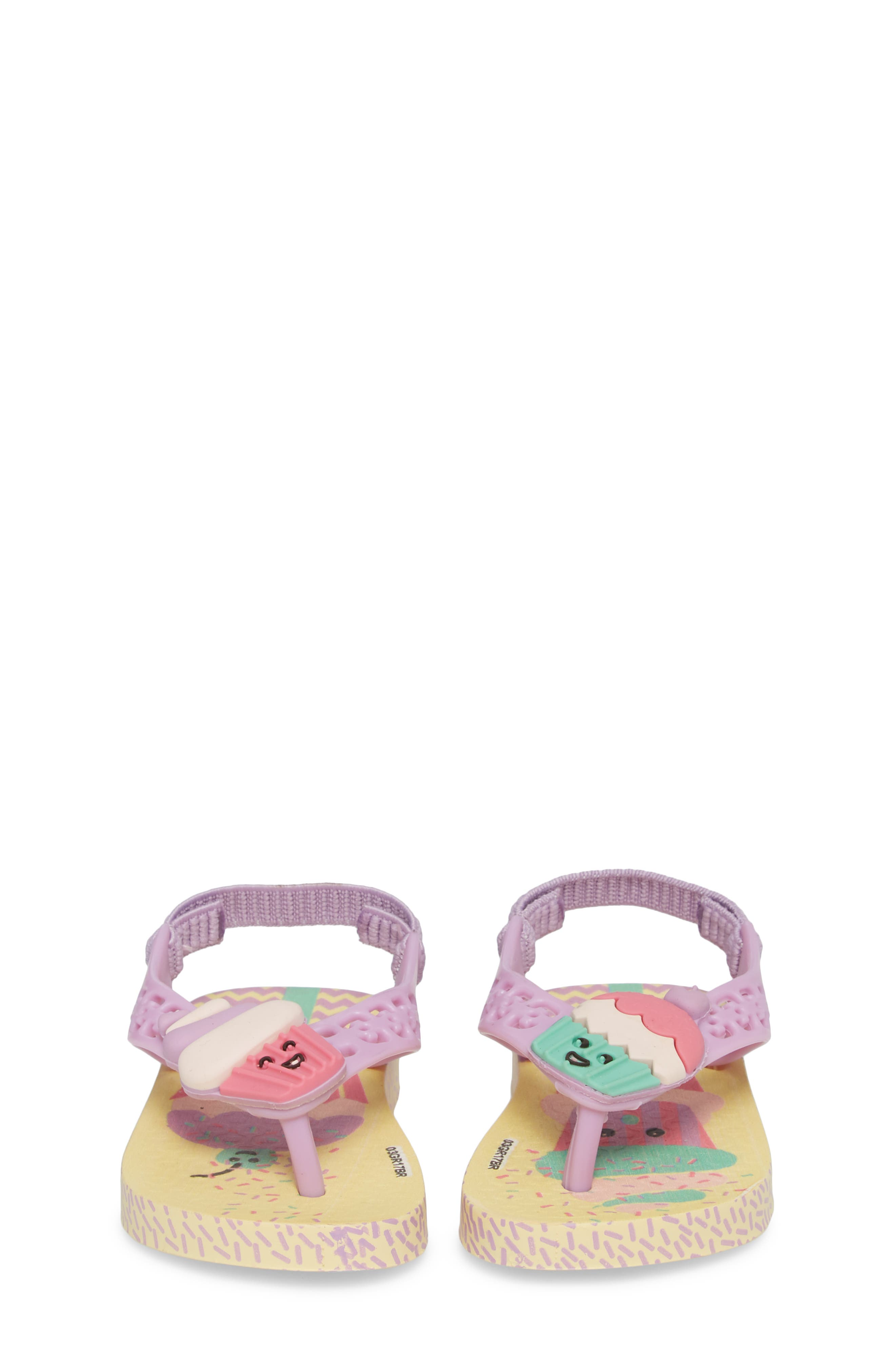 Fun Baby Flip Flop,                             Alternate thumbnail 5, color,                             Yellow/ Lilac