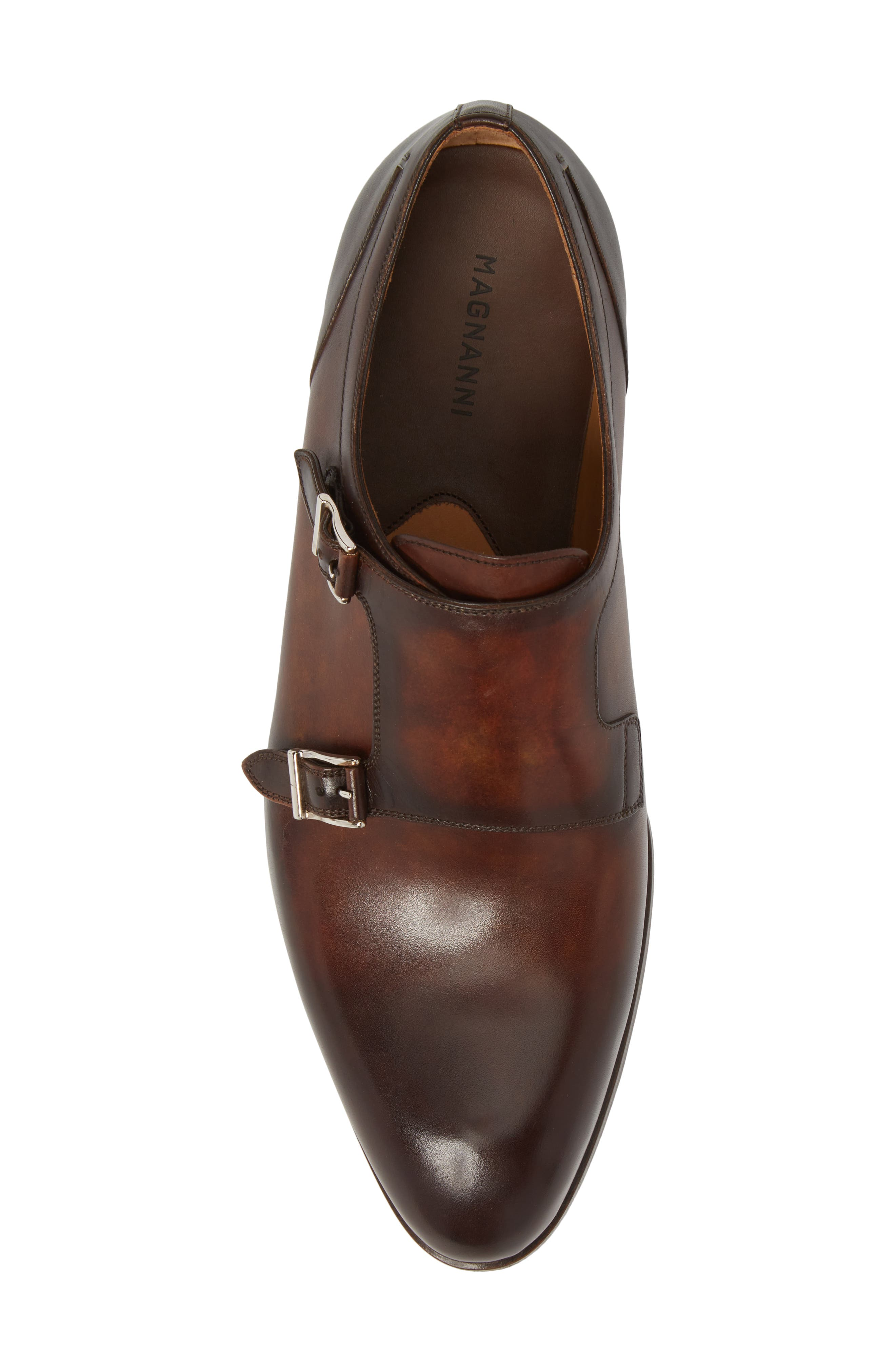 Pratt Double Strap Monk Shoe,                             Alternate thumbnail 5, color,                             Tabaco Leather