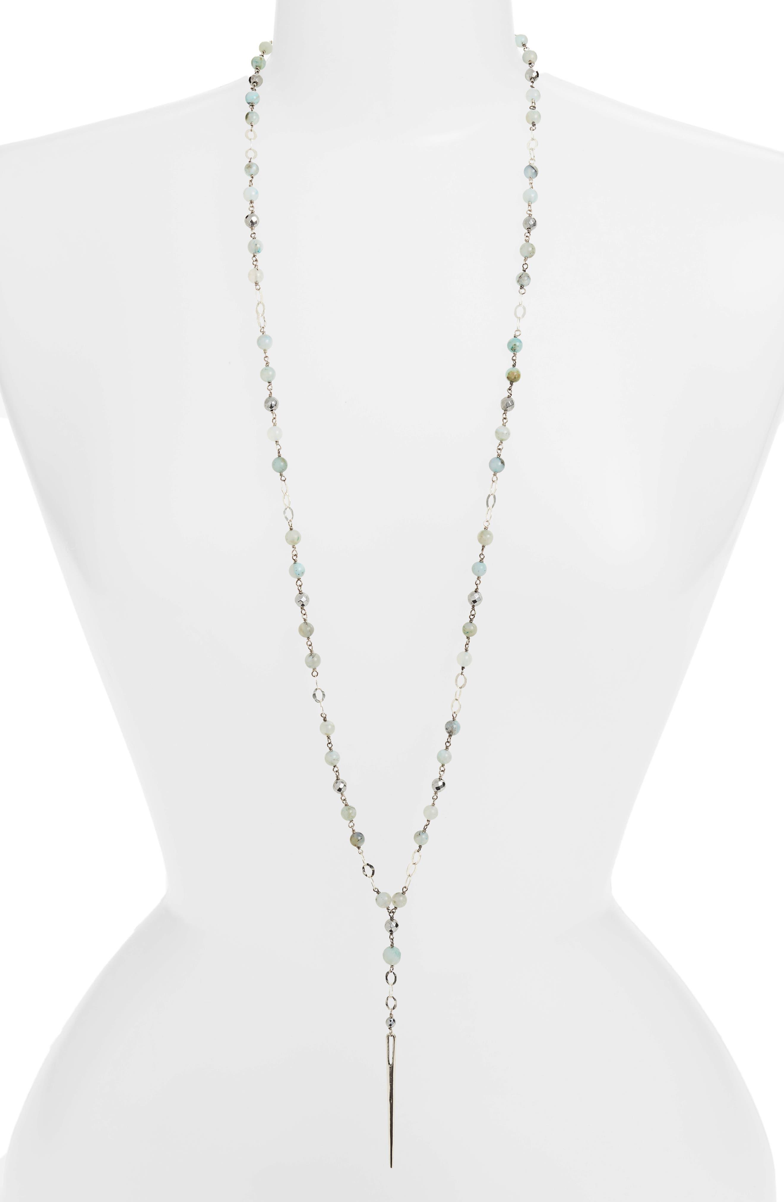 Chan Luu Semiprecious Stone Dagger Pendant Necklace