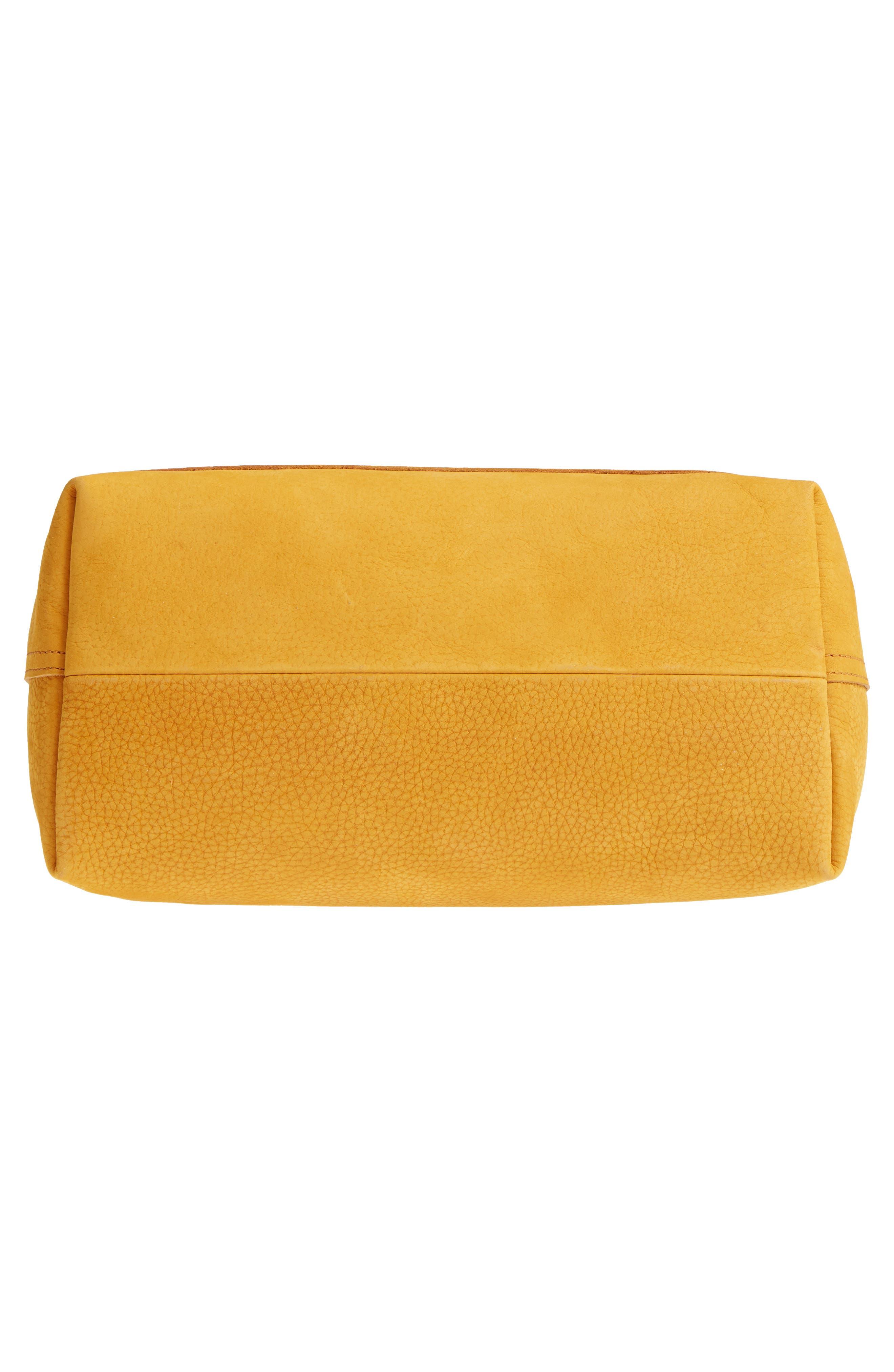 Medium Leather Transport Tote,                             Alternate thumbnail 6, color,                             Celestial Gold