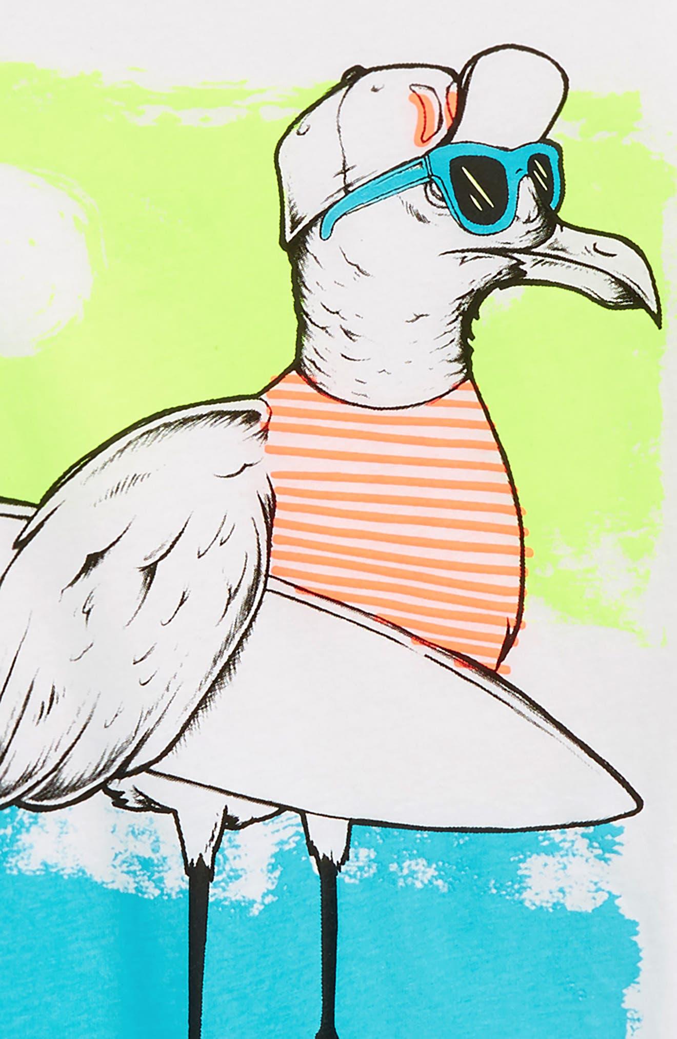 The Gull Graphic T-Shirt,                             Alternate thumbnail 2, color,                             White