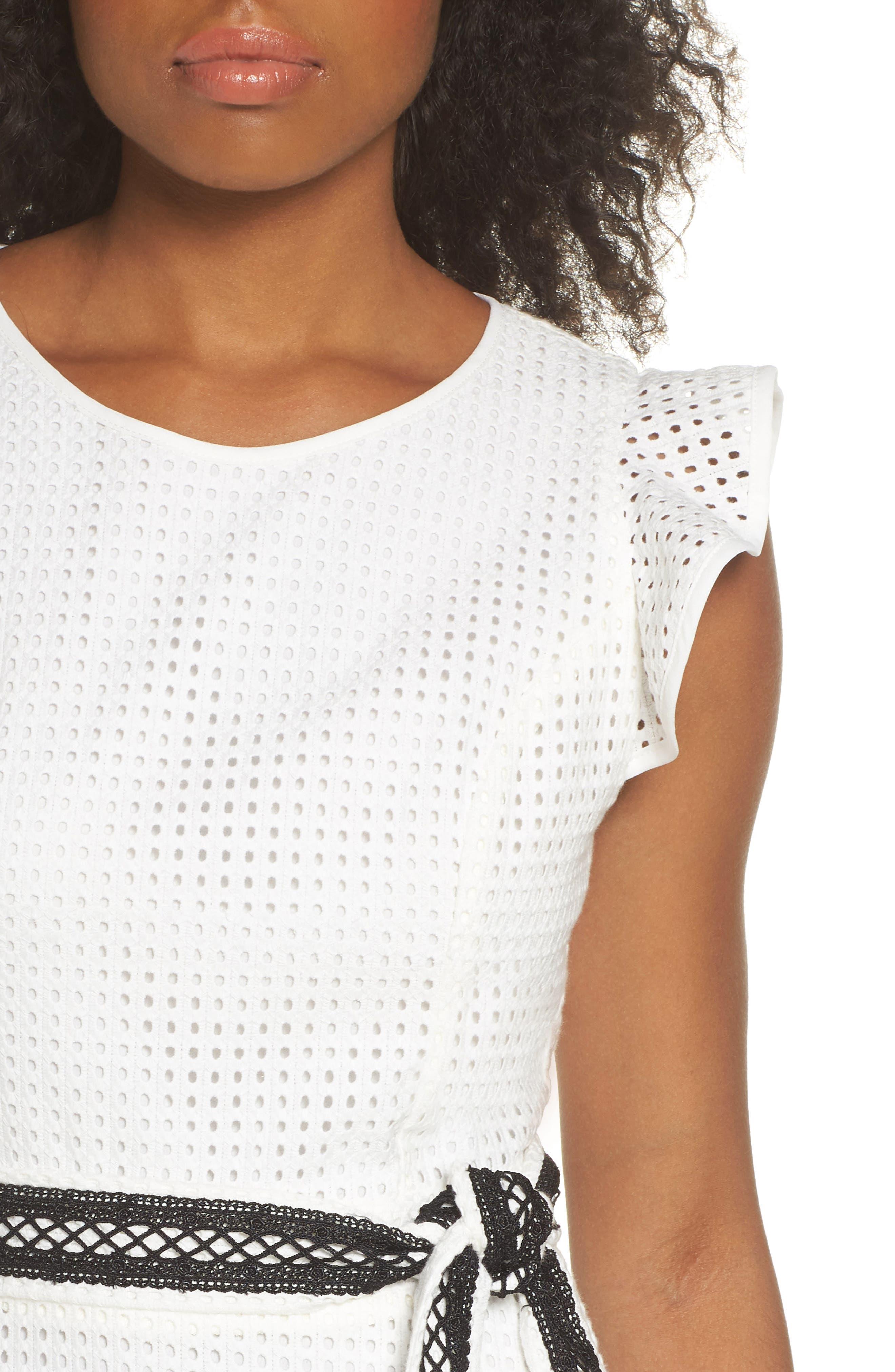 Asymmetrical Hem Dress,                             Alternate thumbnail 4, color,                             White