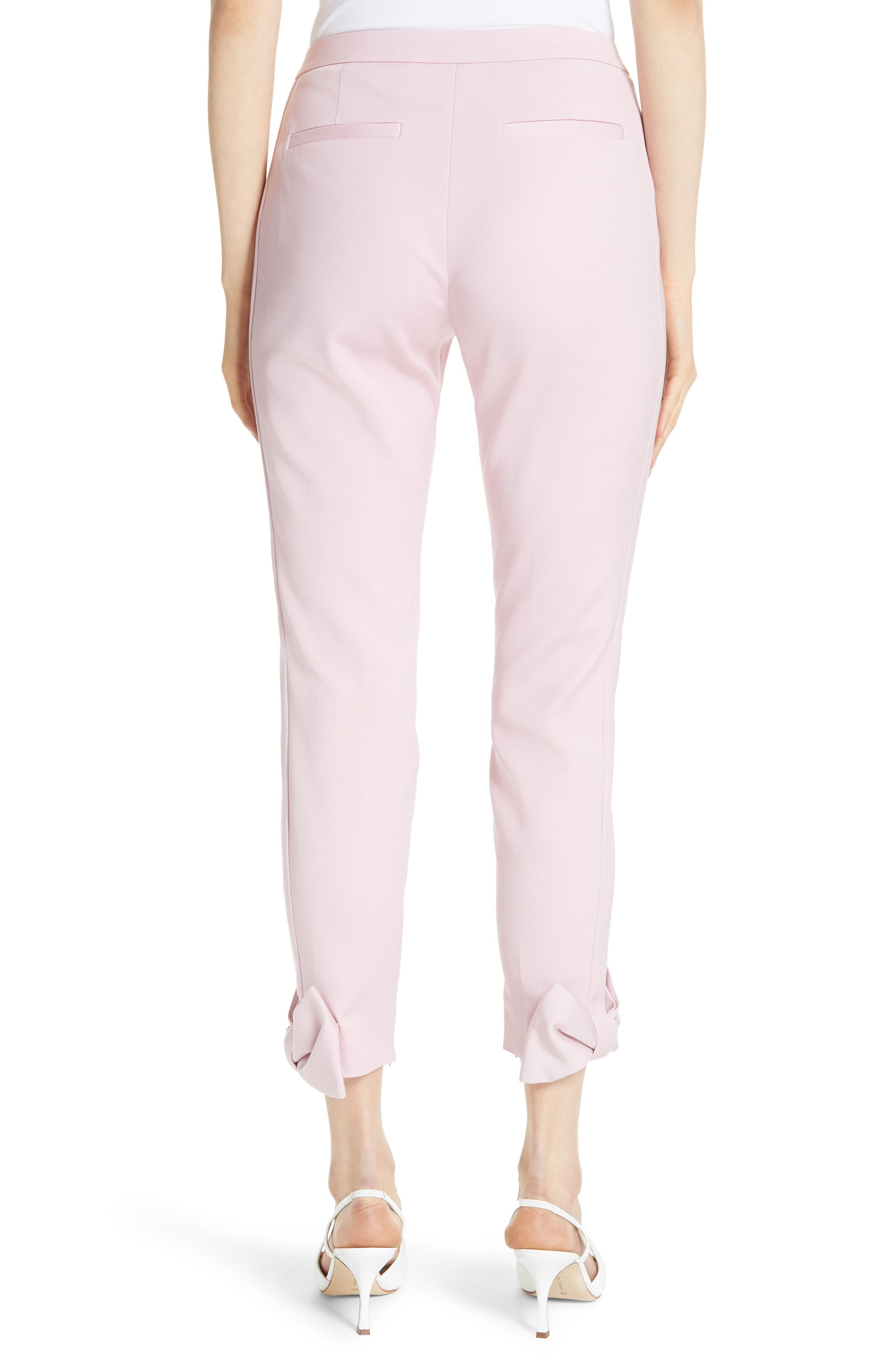 Toplyt Bow Cuff Ankle Pants,                             Alternate thumbnail 2, color,                             Lilac