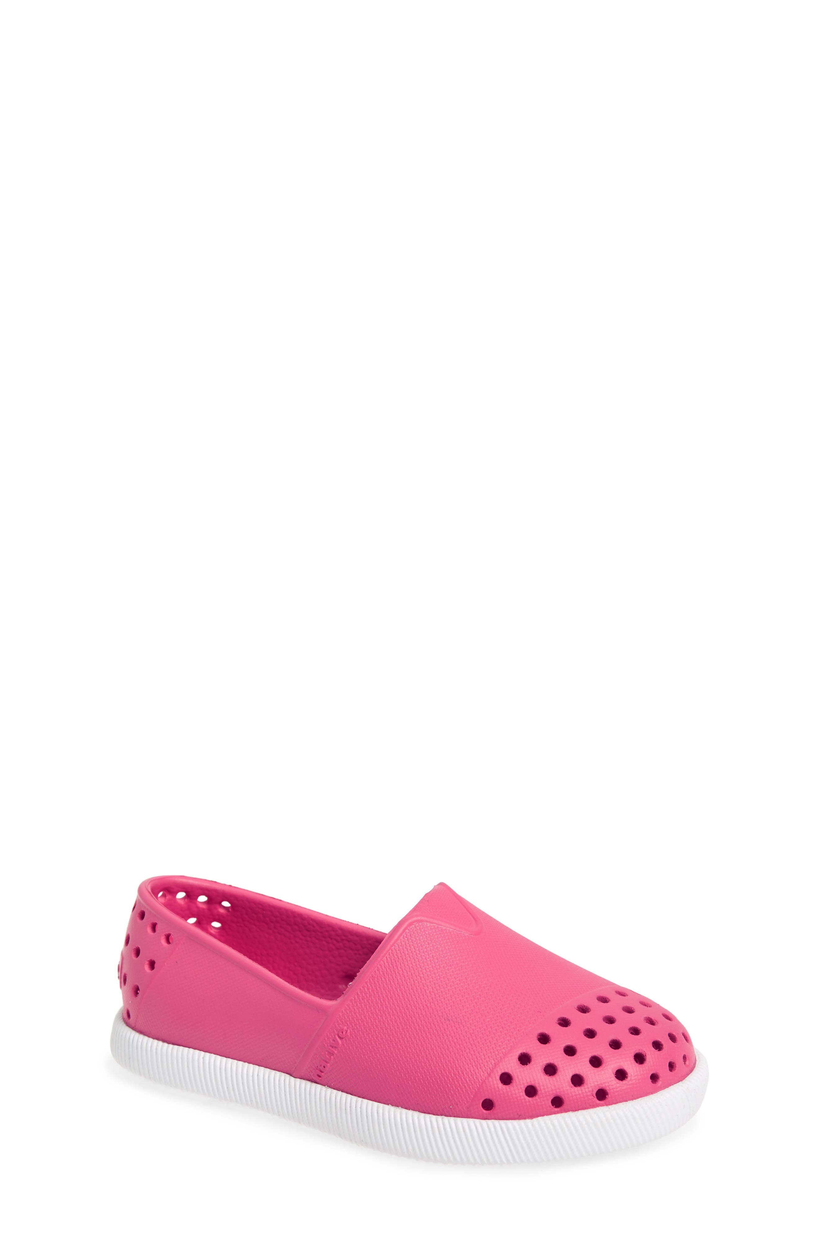 Verona Perforated Water Friendly Slip-On,                             Main thumbnail 1, color,                             Hollywood Pink/ Shell White