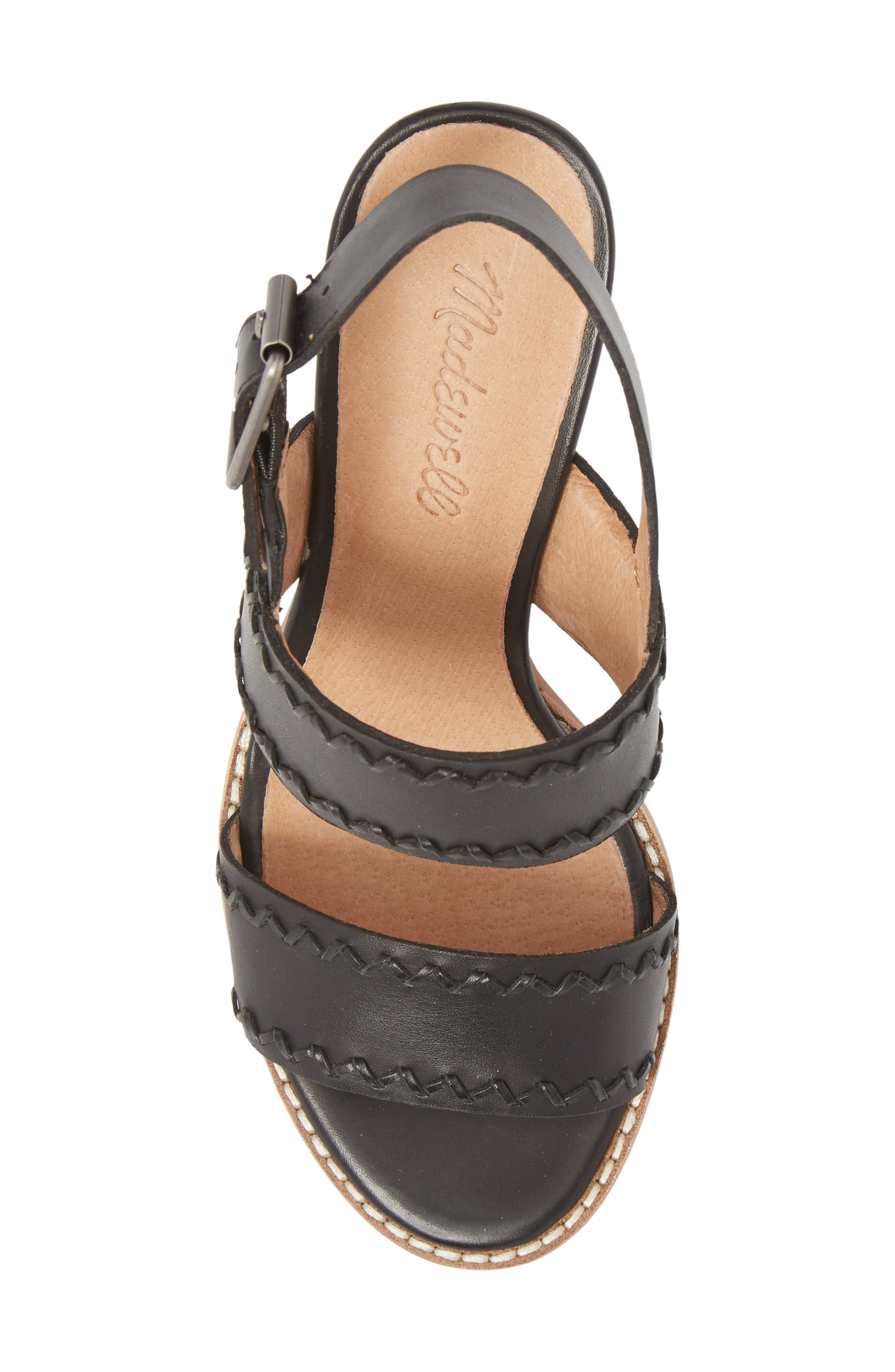 Giana Sandal,                             Alternate thumbnail 5, color,                             True Black Leather
