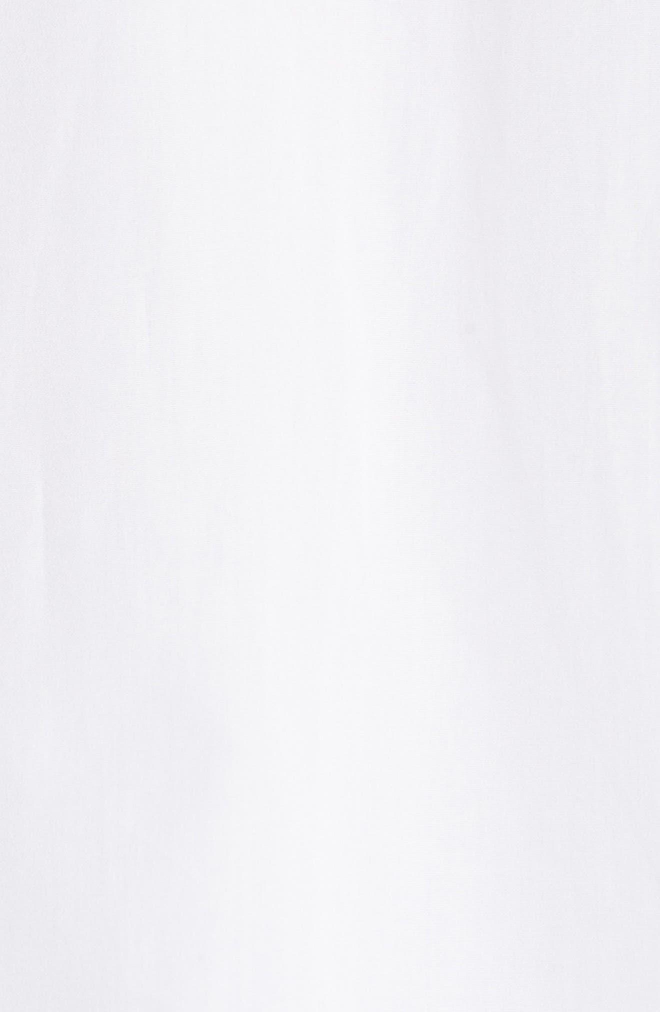 Short Sleeve Cotton Shirt,                             Alternate thumbnail 5, color,                             Optic White