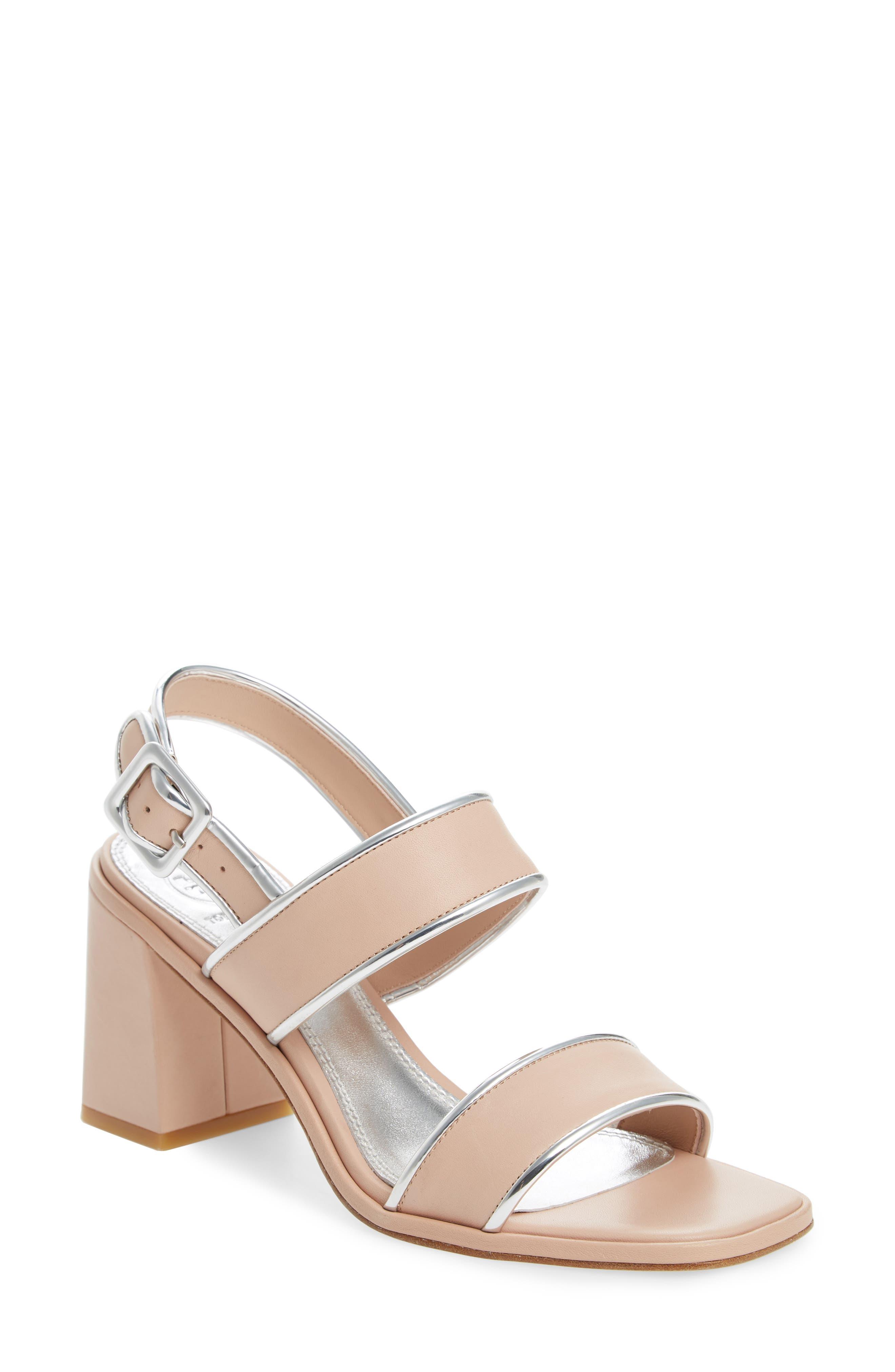 Delaney Double Strap Sandal,                             Main thumbnail 1, color,                             Goan Sand/ Silver