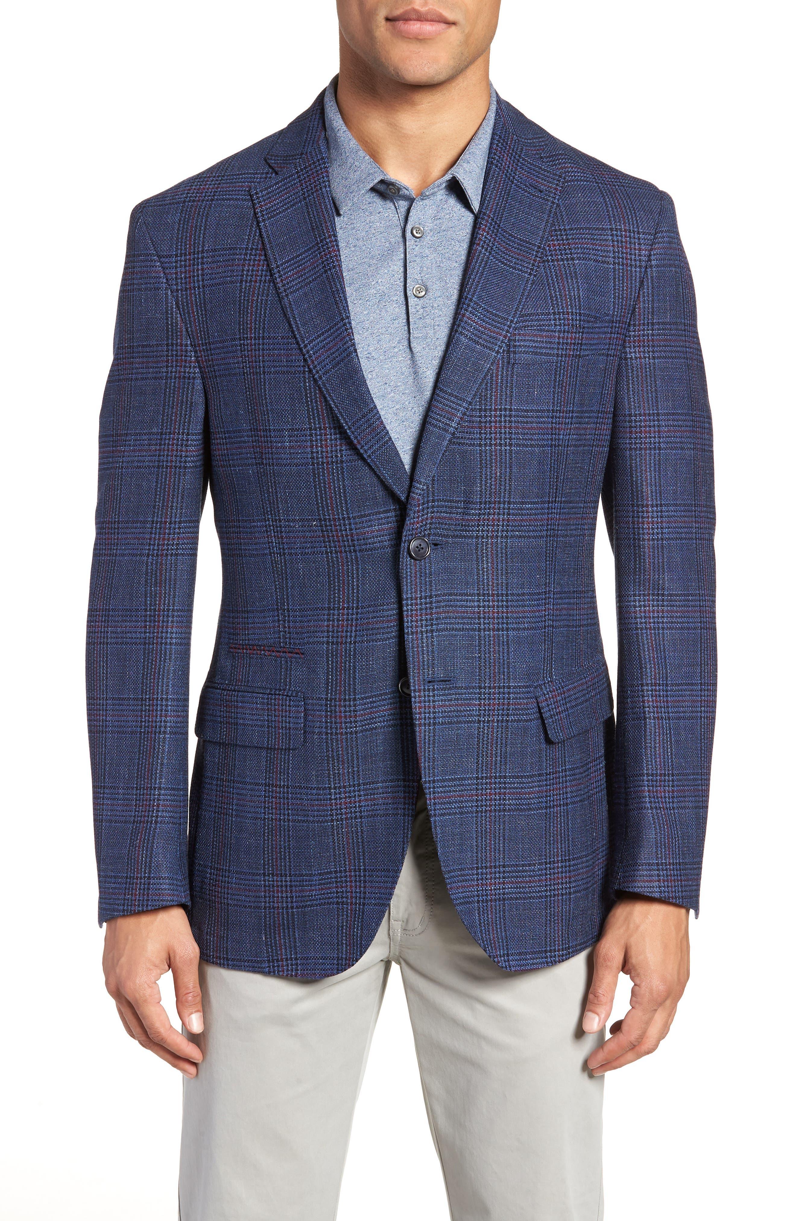 JKT New York Roger Plaid Wool & Linen Sport Coat