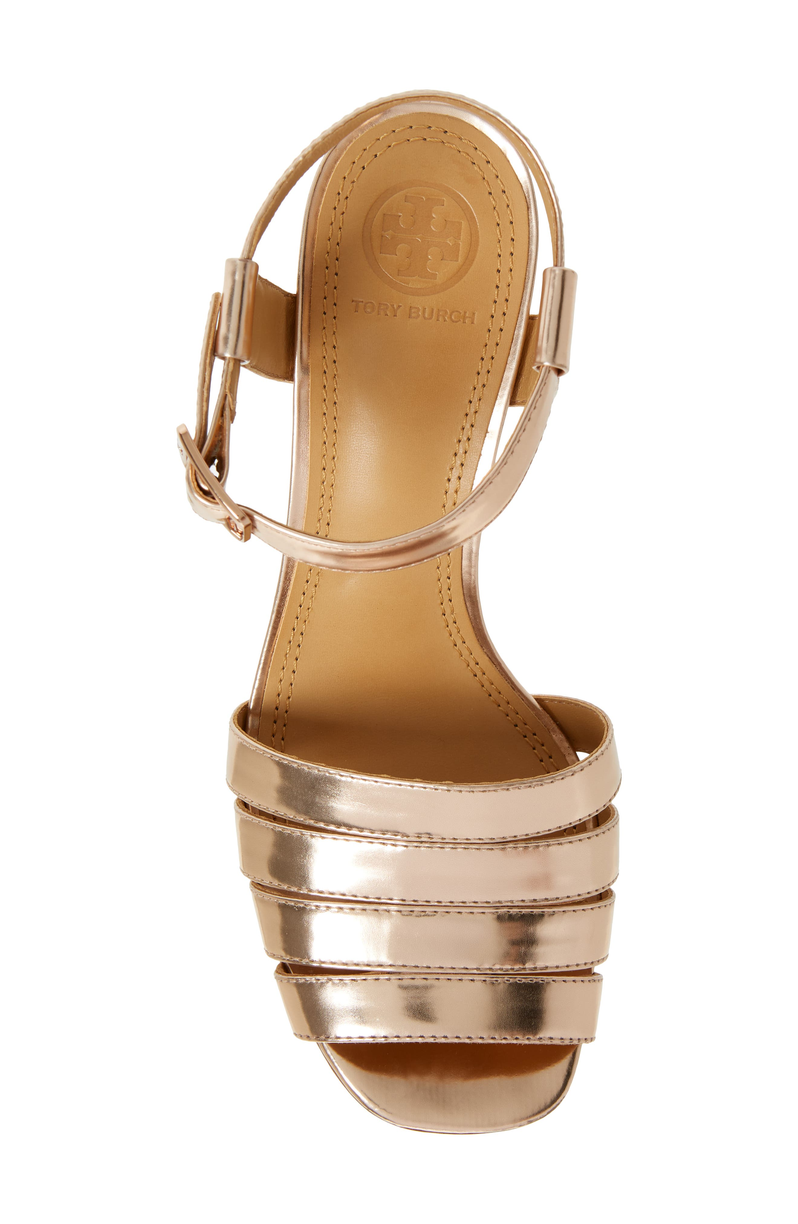'Bellman' Cutout Sandal,                             Alternate thumbnail 5, color,                             Rose Gold