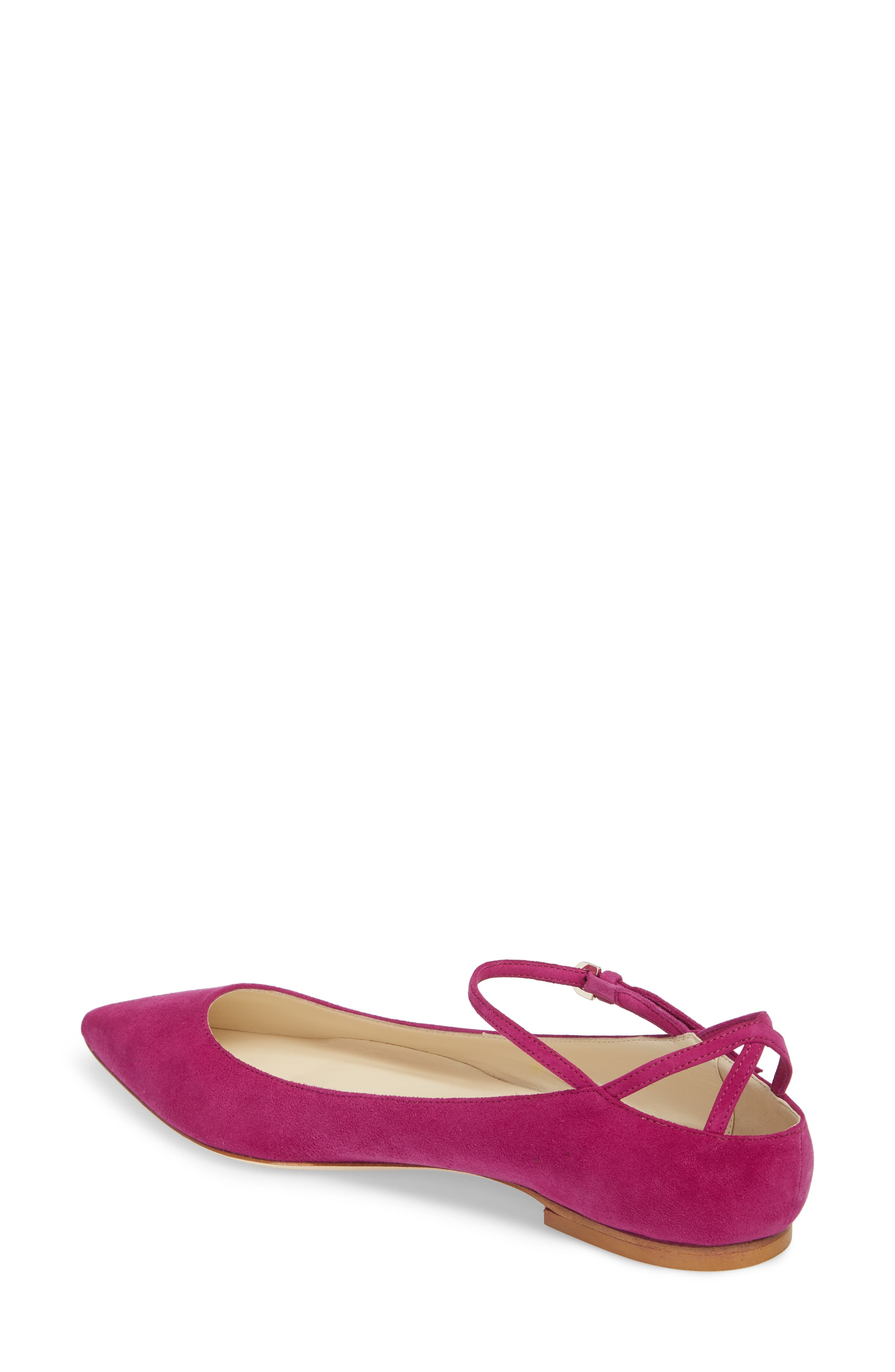 Astrid Ankle Strap Flat,                             Alternate thumbnail 2, color,                             Bouganvilla Kidsuede