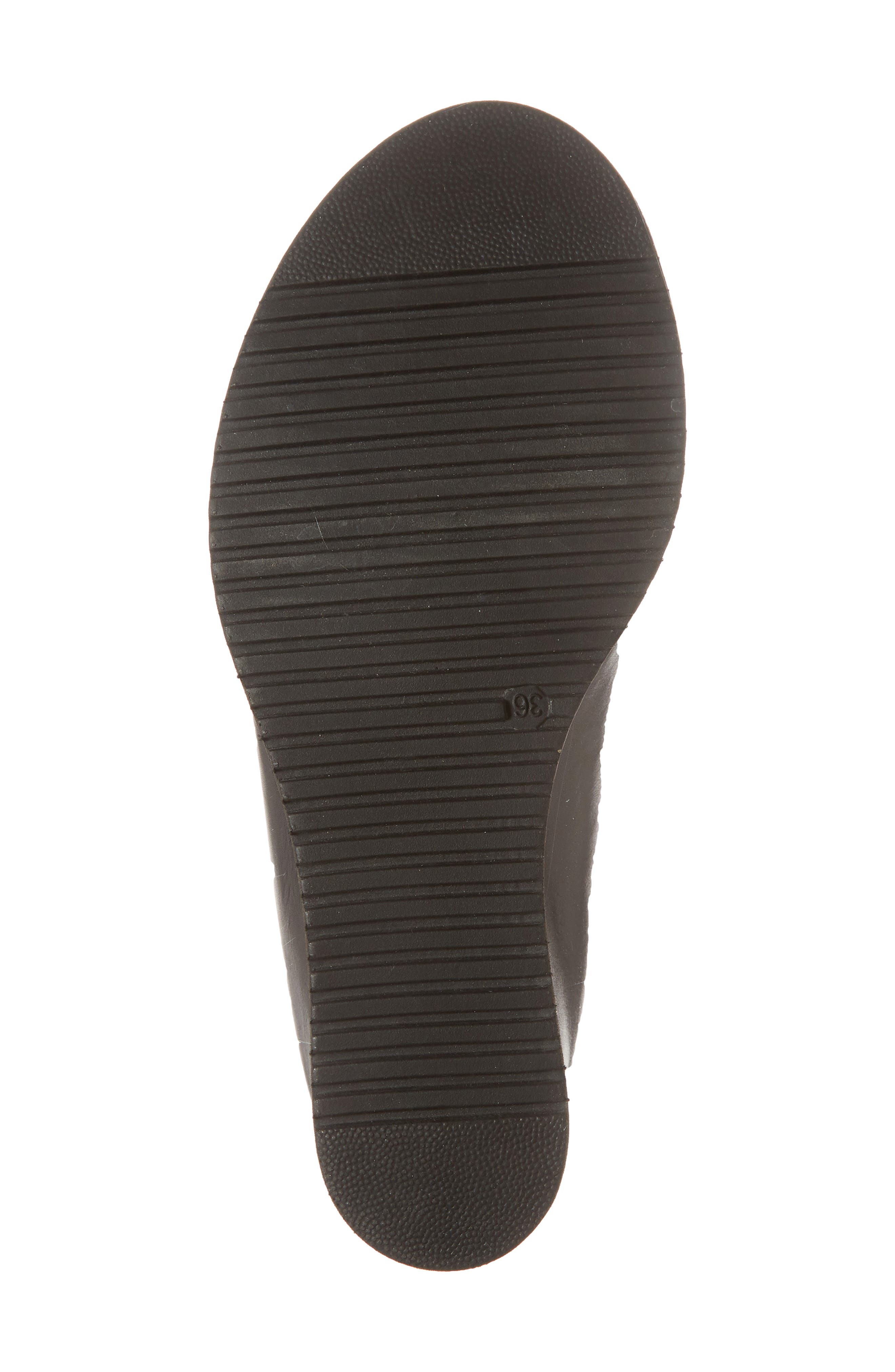 Alis Wedge Sandal,                             Alternate thumbnail 6, color,                             Black/ Black Leather