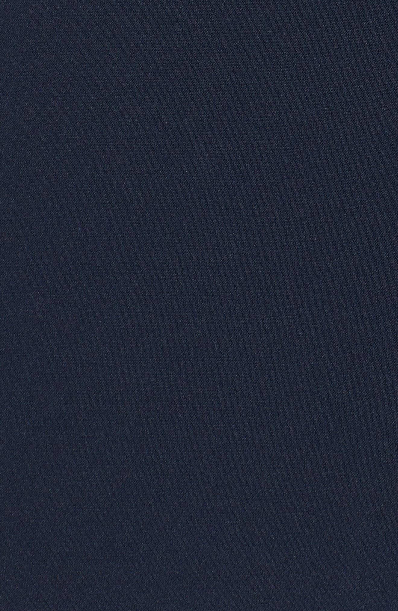 Karlie Off the Shoulder Jumpsuit,                             Alternate thumbnail 6, color,                             Navy