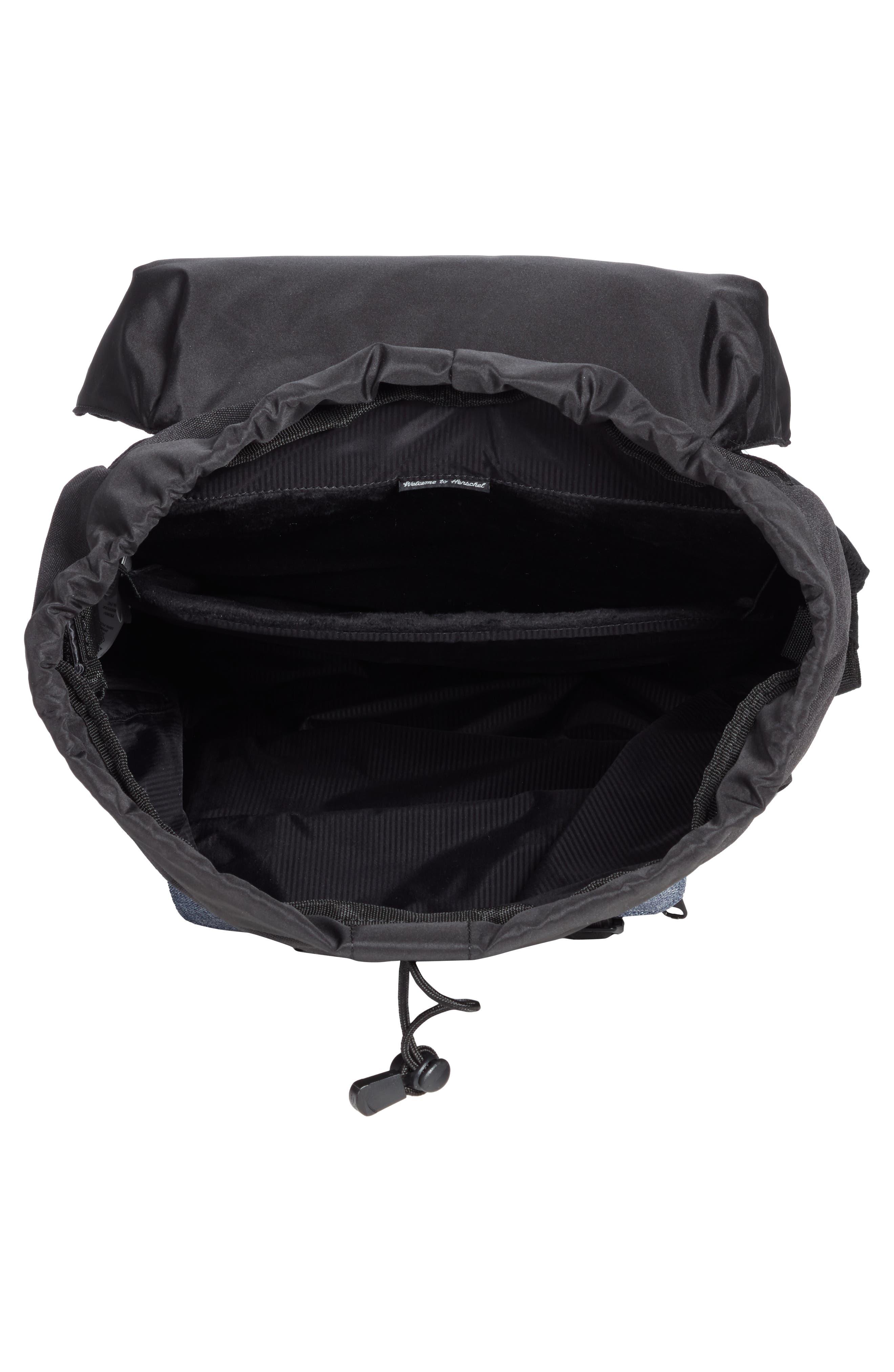 Little America - Chambray Backpack,                             Alternate thumbnail 4, color,                             Black/ Dark Chambray