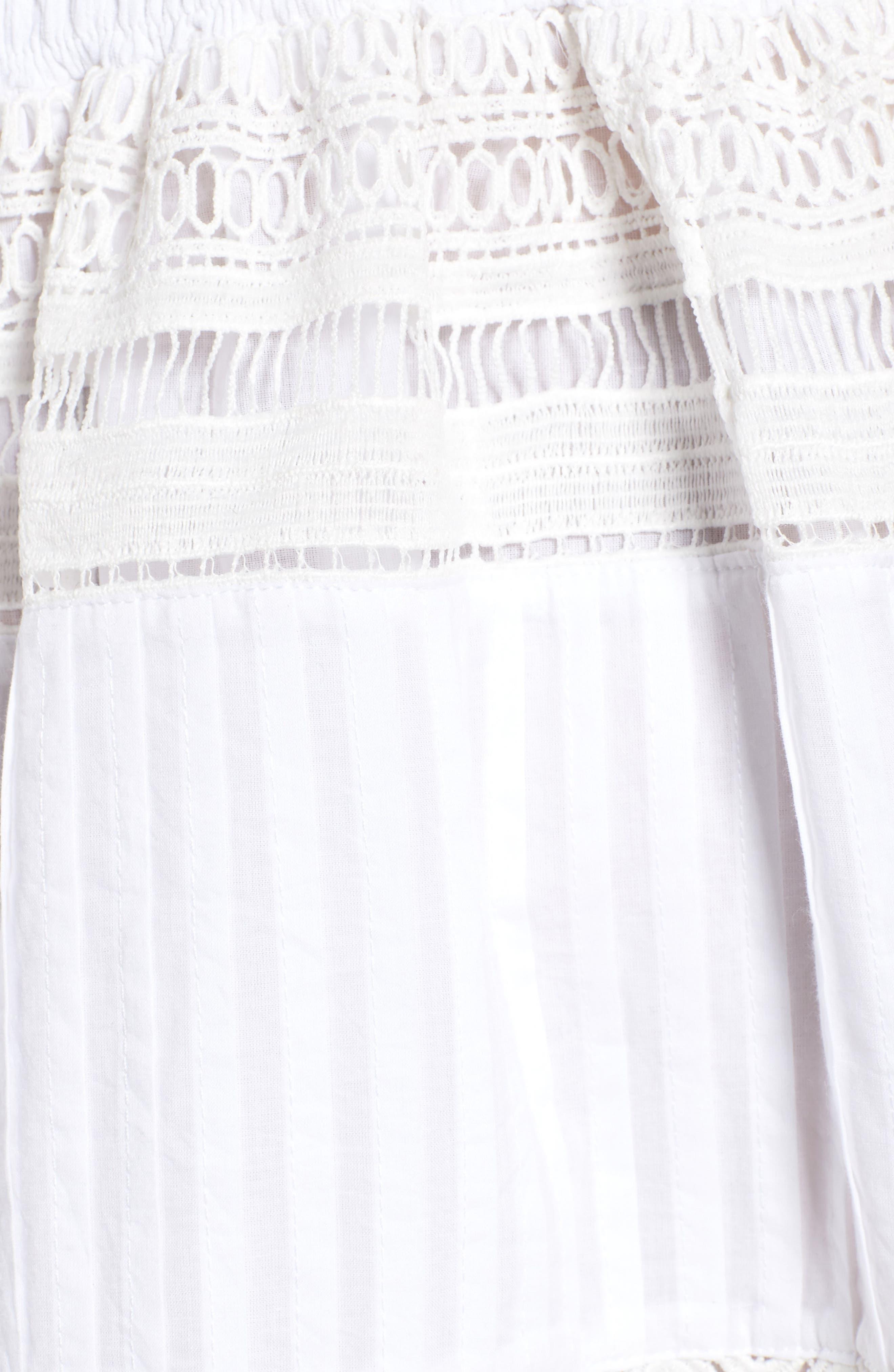 Rosa Lace Minidress,                             Alternate thumbnail 5, color,                             White