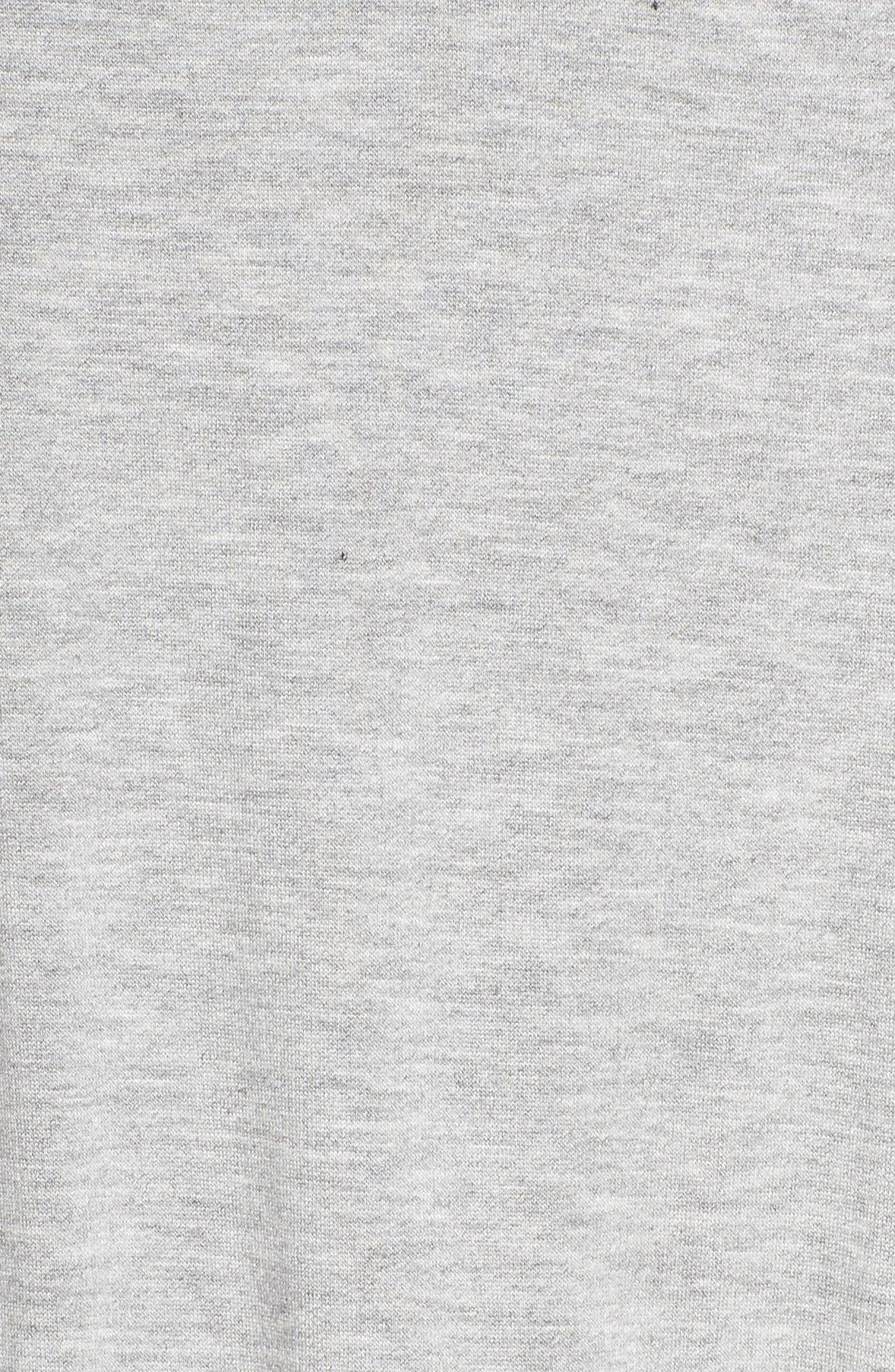Farrah Cropped Jumpsuit,                             Alternate thumbnail 6, color,                             Light Heather Gray