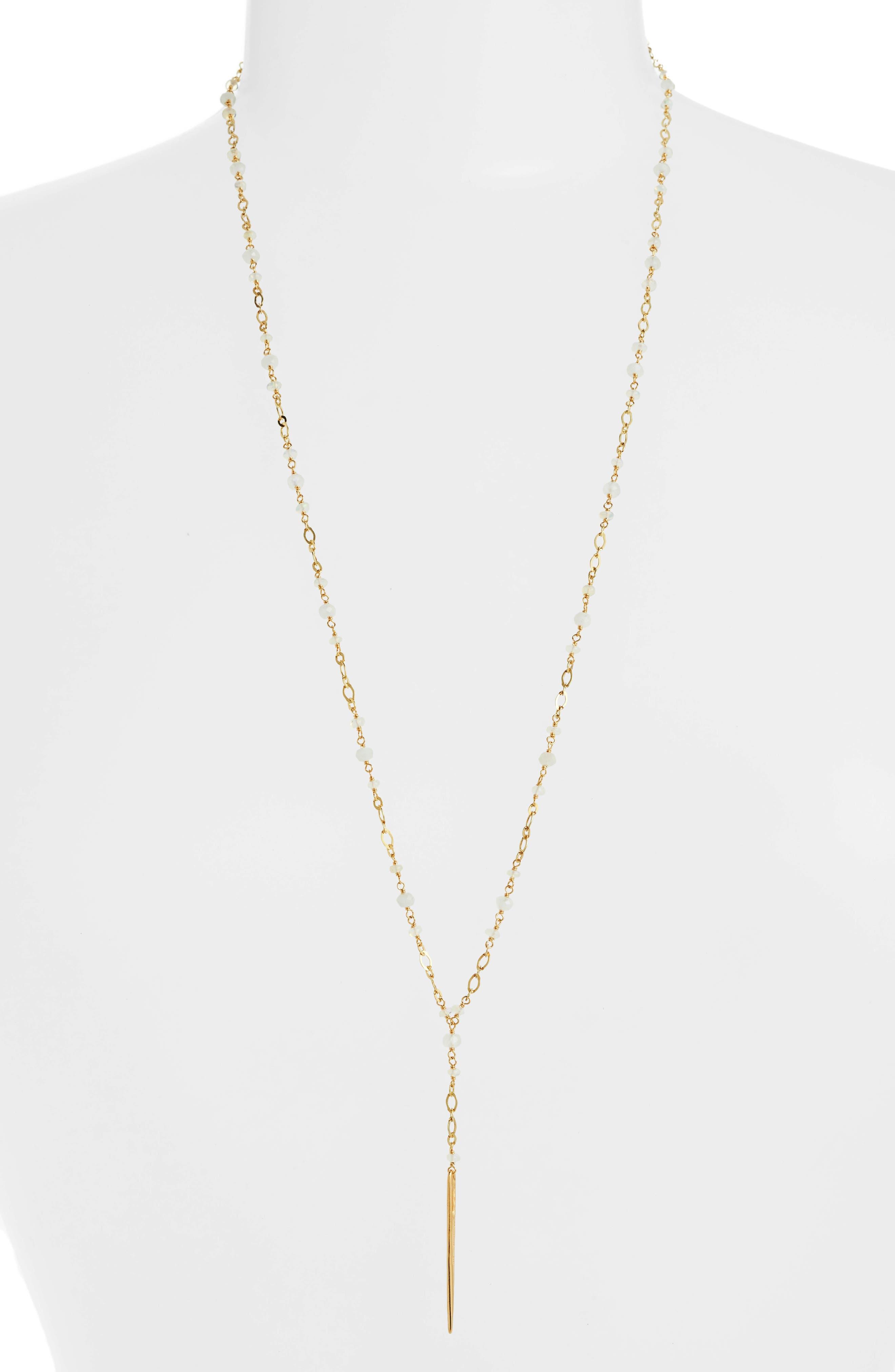 Chan Luu Opal Dagger Y-Necklace