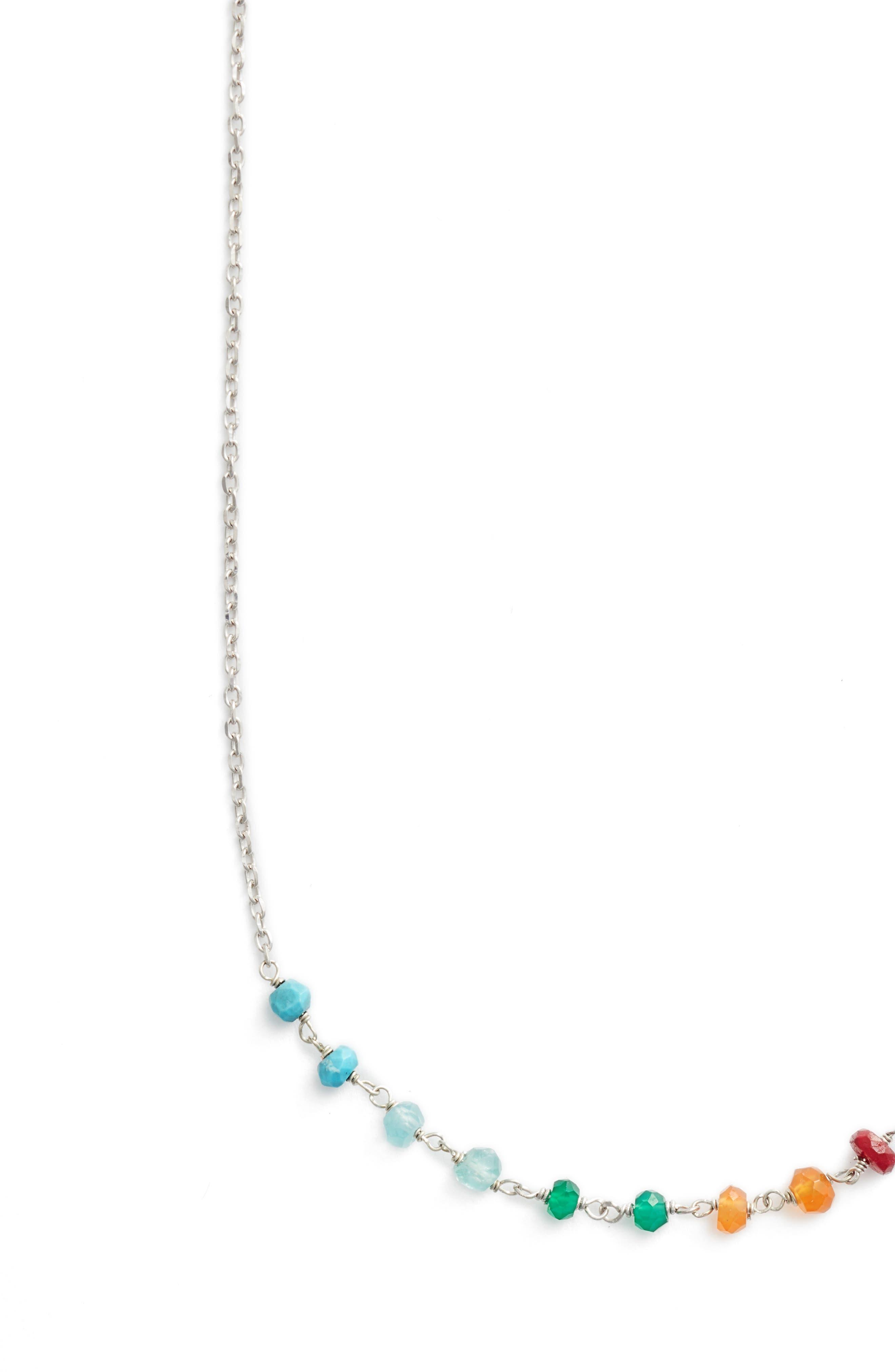 Lapis Collar Necklace,                             Alternate thumbnail 2, color,                             Silver/ Multi