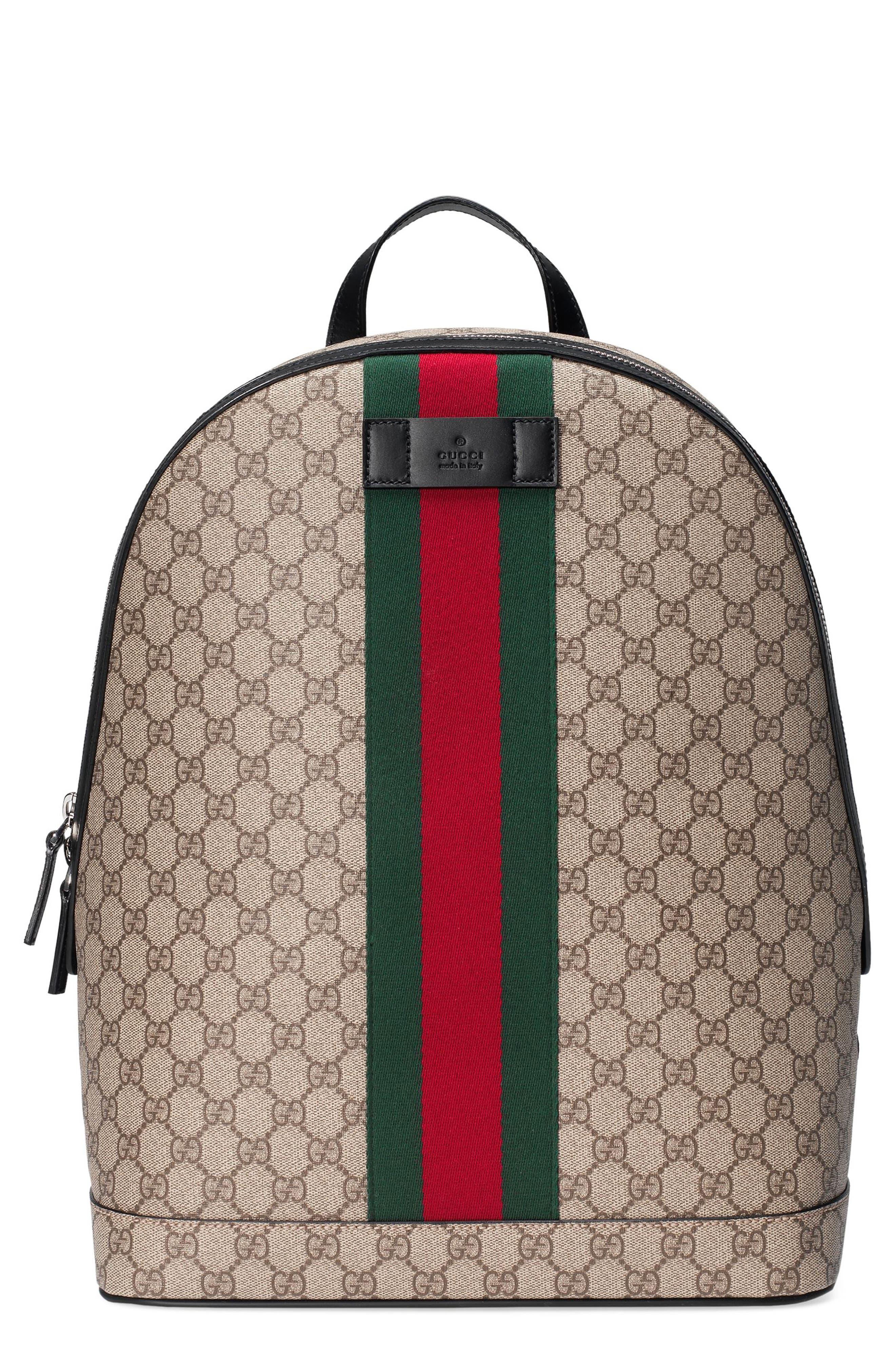 Supreme Stripe Backpack,                         Main,                         color, Beige