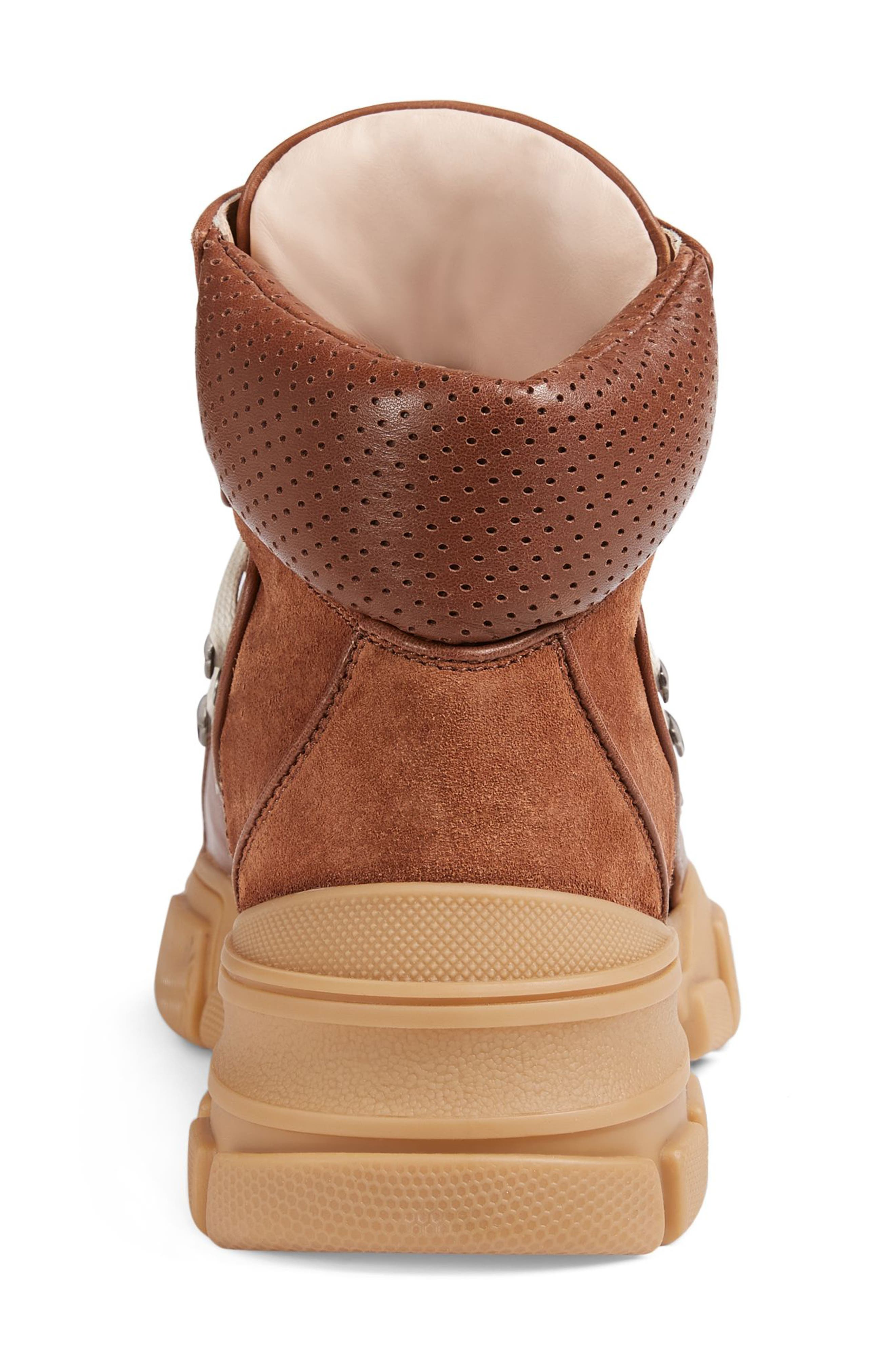 Lace-Up Boot,                             Alternate thumbnail 5, color,                             Brown