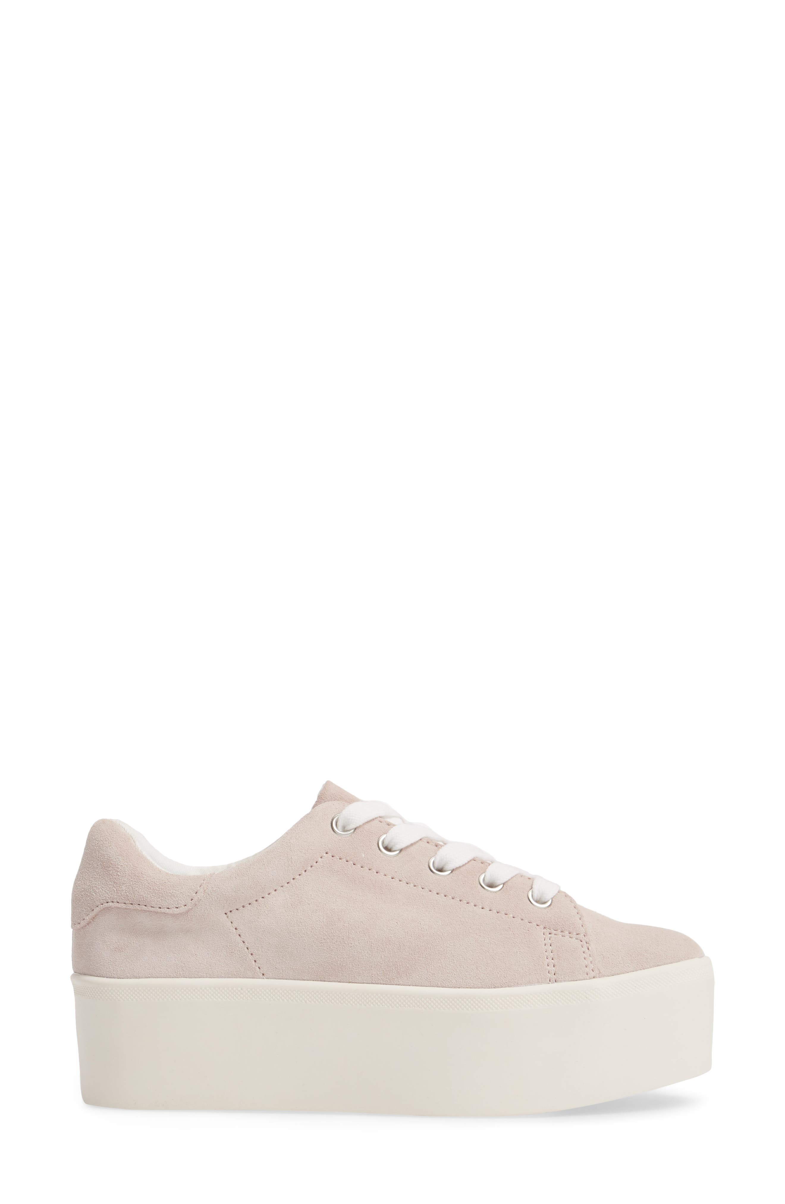 Palmer Sneaker,                             Alternate thumbnail 3, color,                             Pink Suede