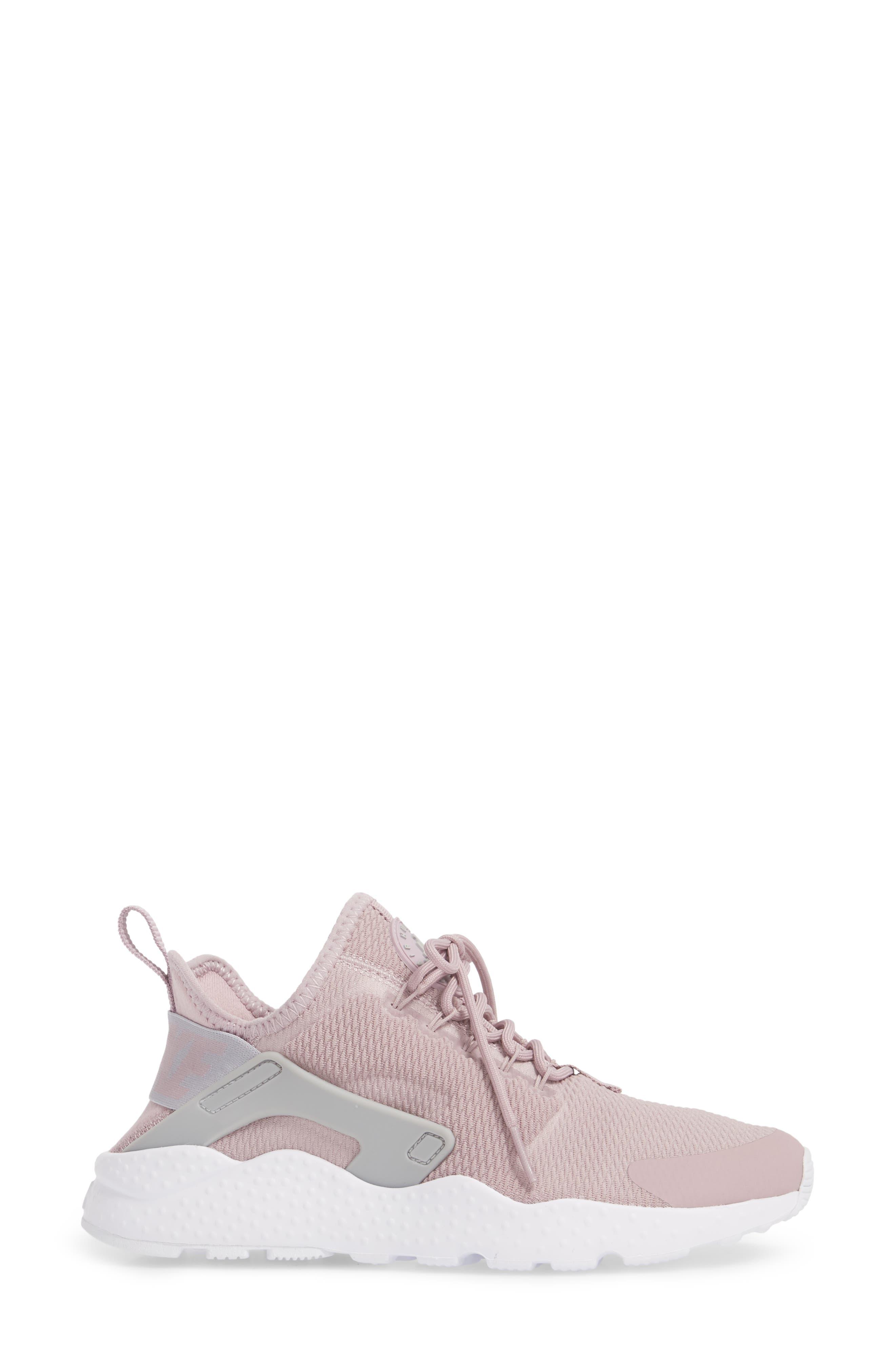 Air Huarache Sneaker,                             Alternate thumbnail 3, color,                             Elemental Rose/ Wolf Grey