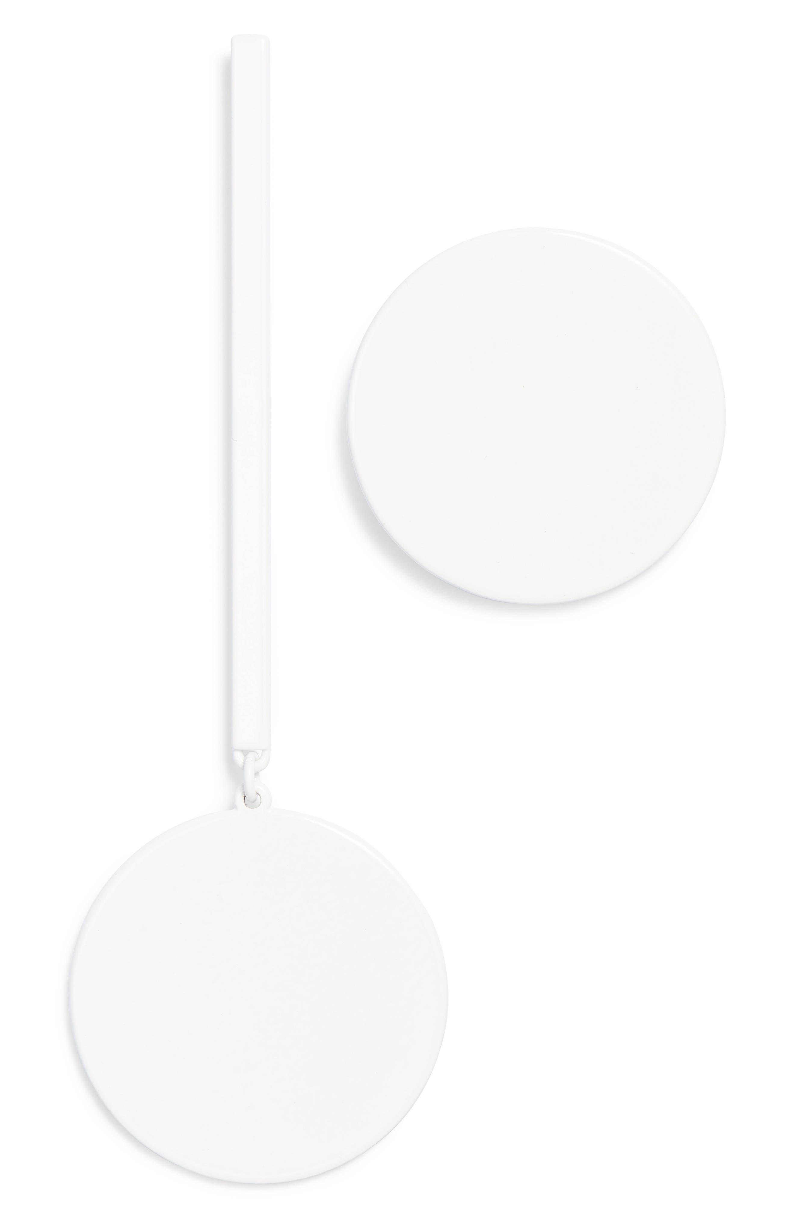 The Asymmetrical Andies Earrings,                             Main thumbnail 1, color,                             White