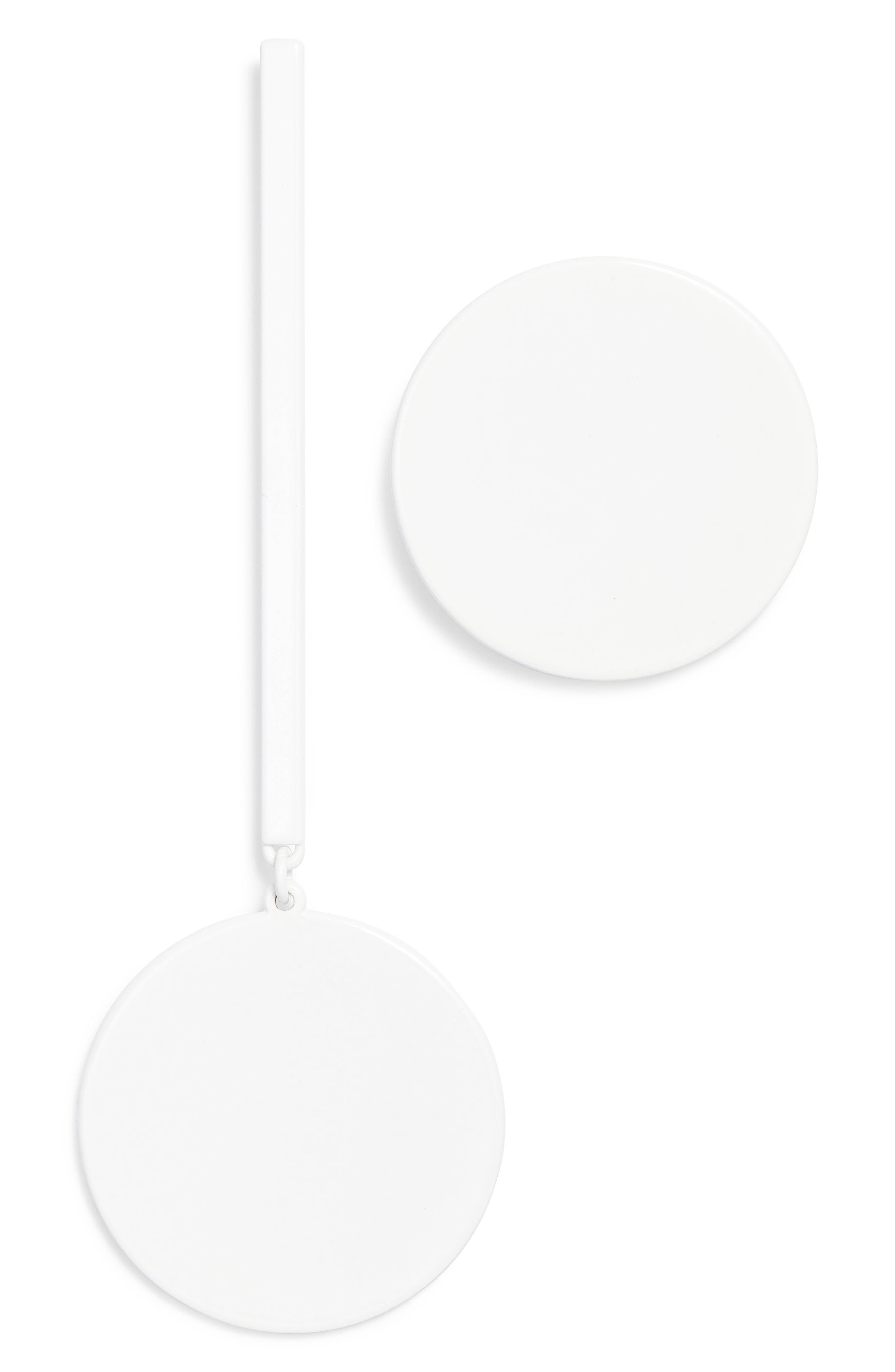 The Asymmetrical Andies Earrings,                         Main,                         color, White