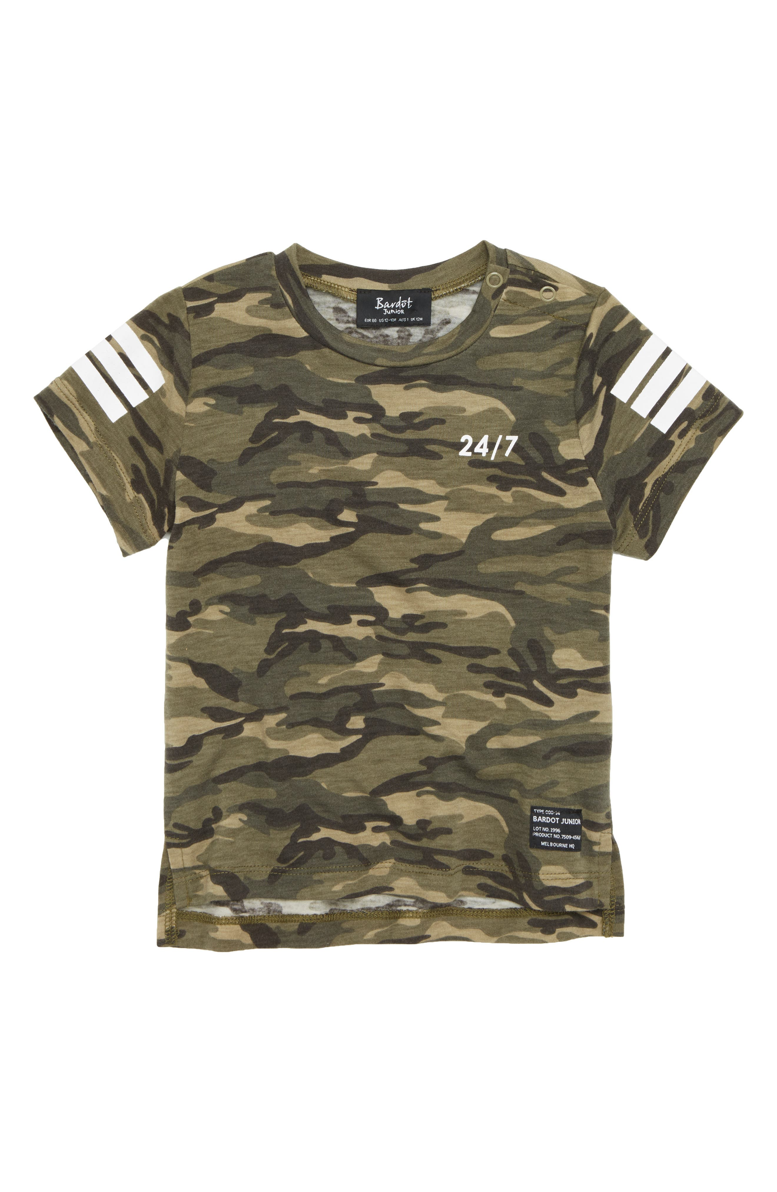 24/7 Camo T-Shirt,                         Main,                         color, Khaki