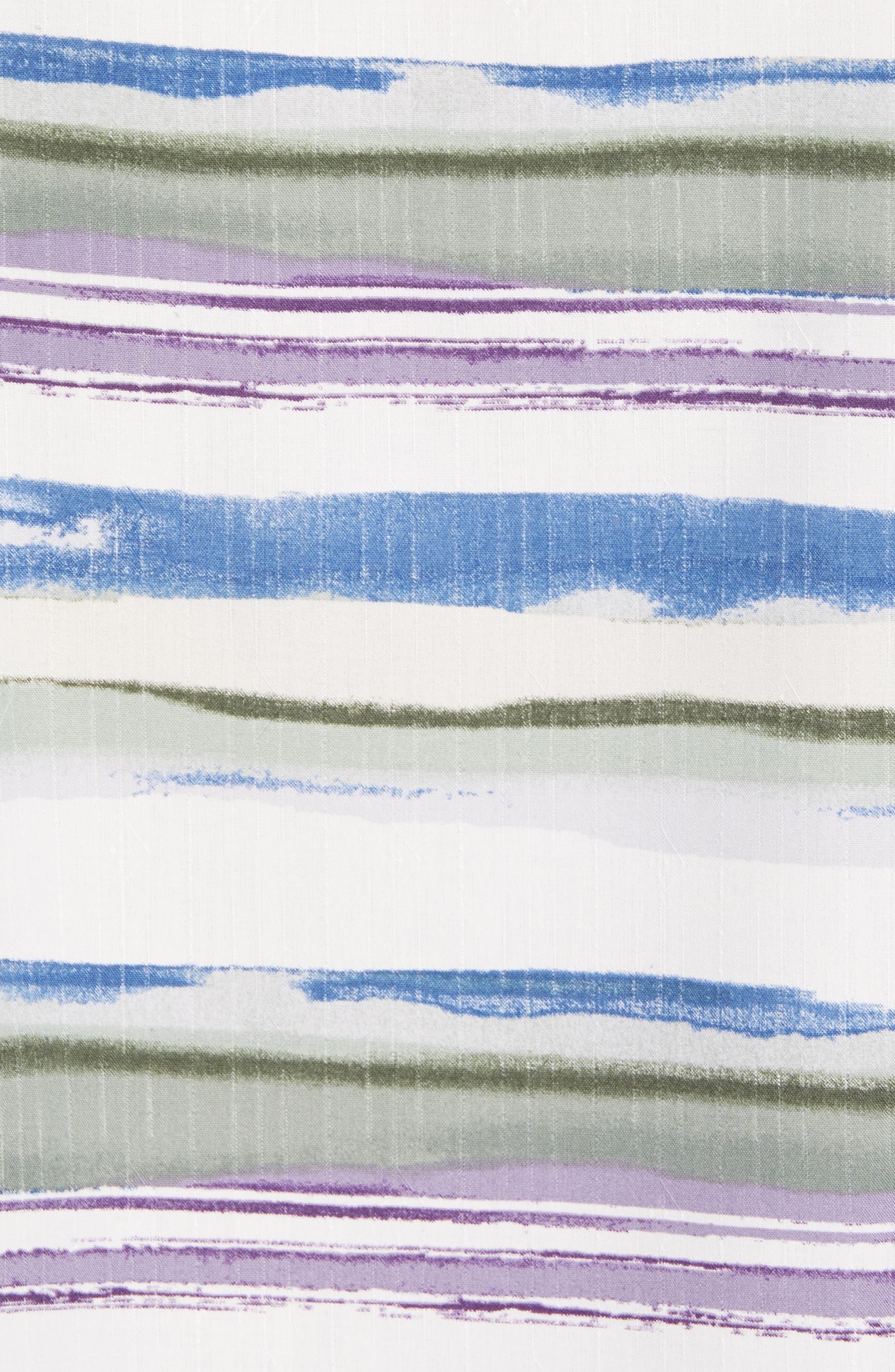Hazy Horizons Silk Blend Camp Shirt,                             Alternate thumbnail 5, color,                             Grand Canal