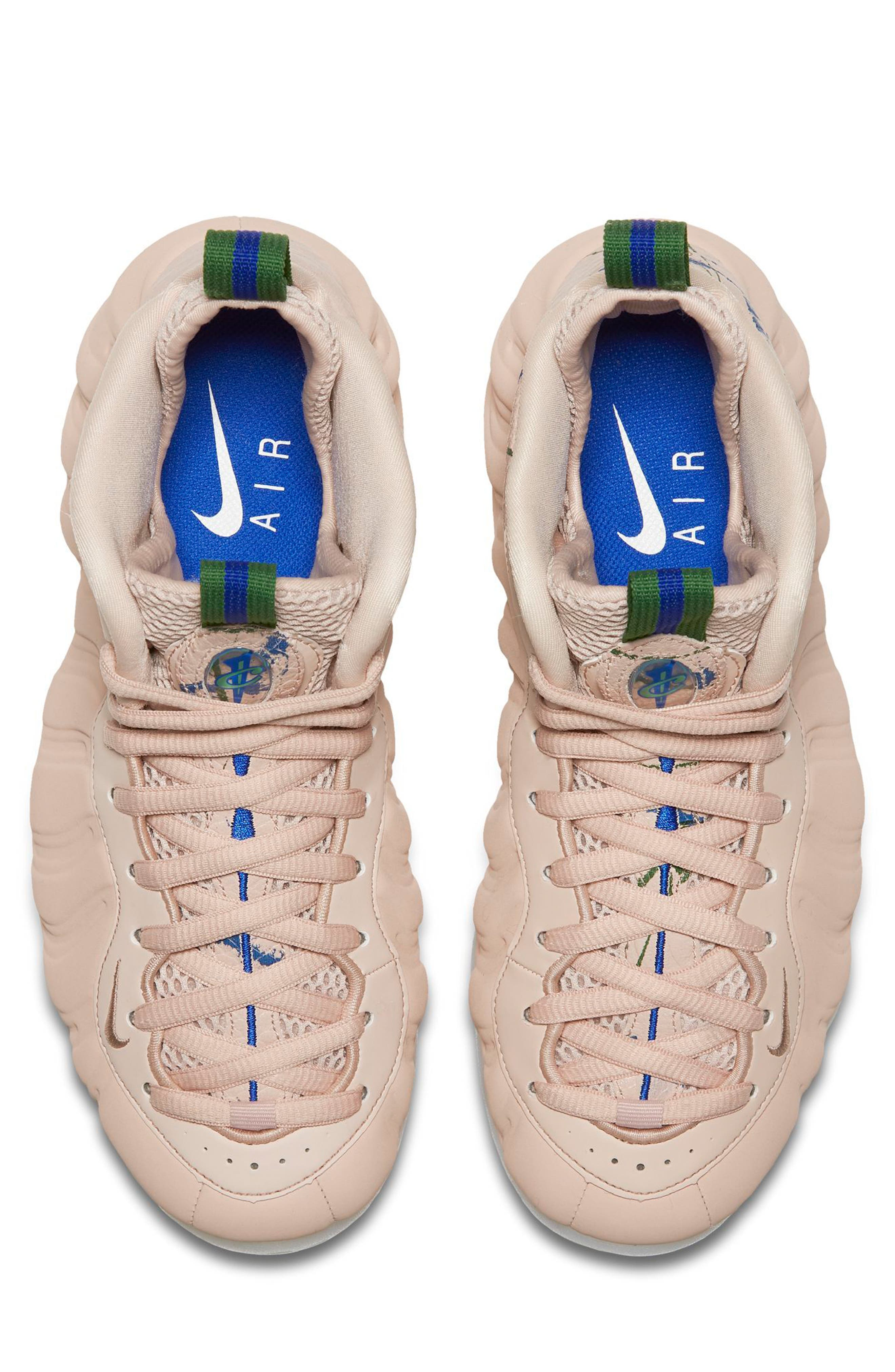 Air Foamposite One Sneaker,                             Alternate thumbnail 4, color,                             Particle Beige/ White