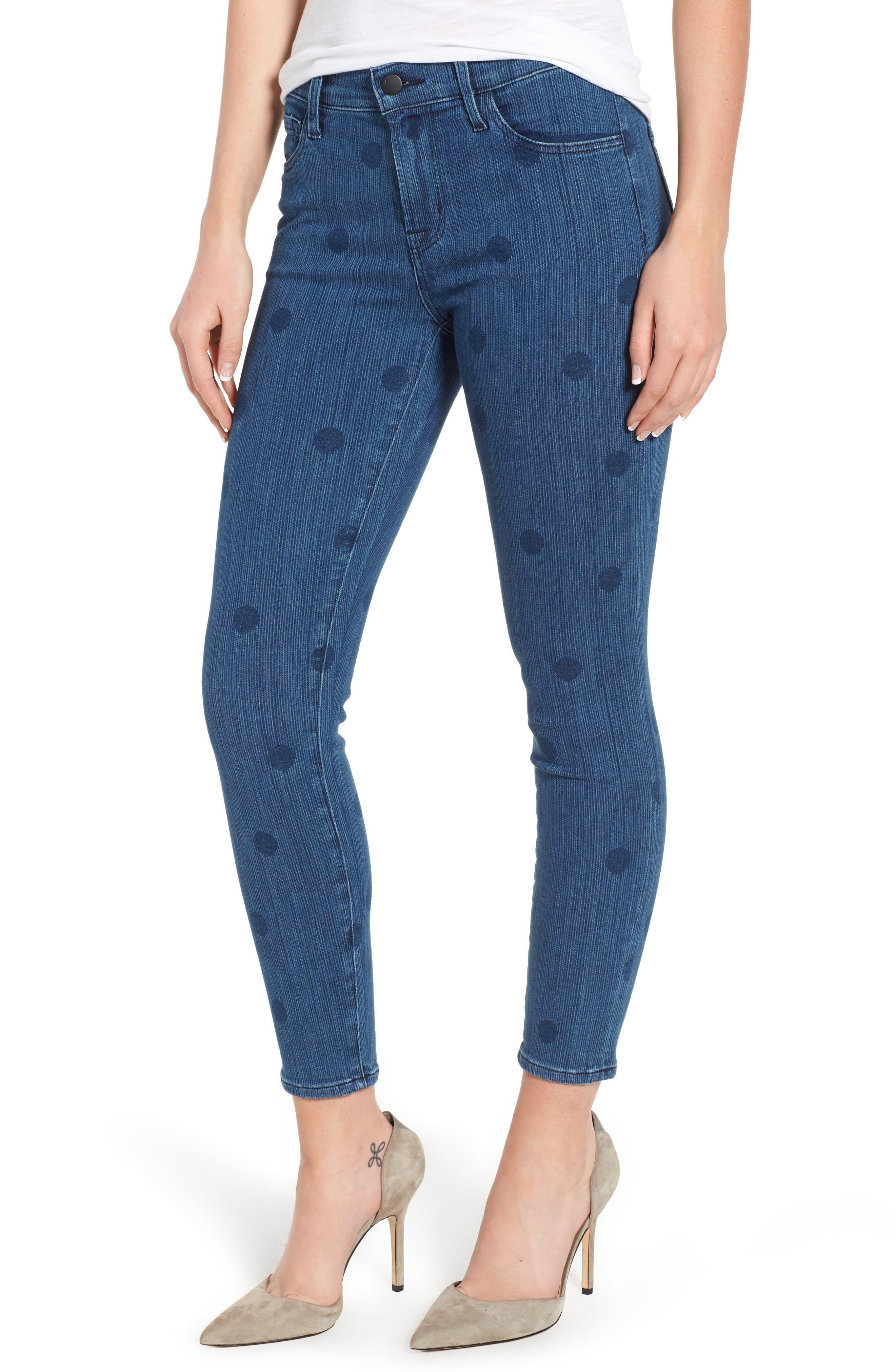 835 Capri Skinny Jeans,                         Main,                         color, Aerial