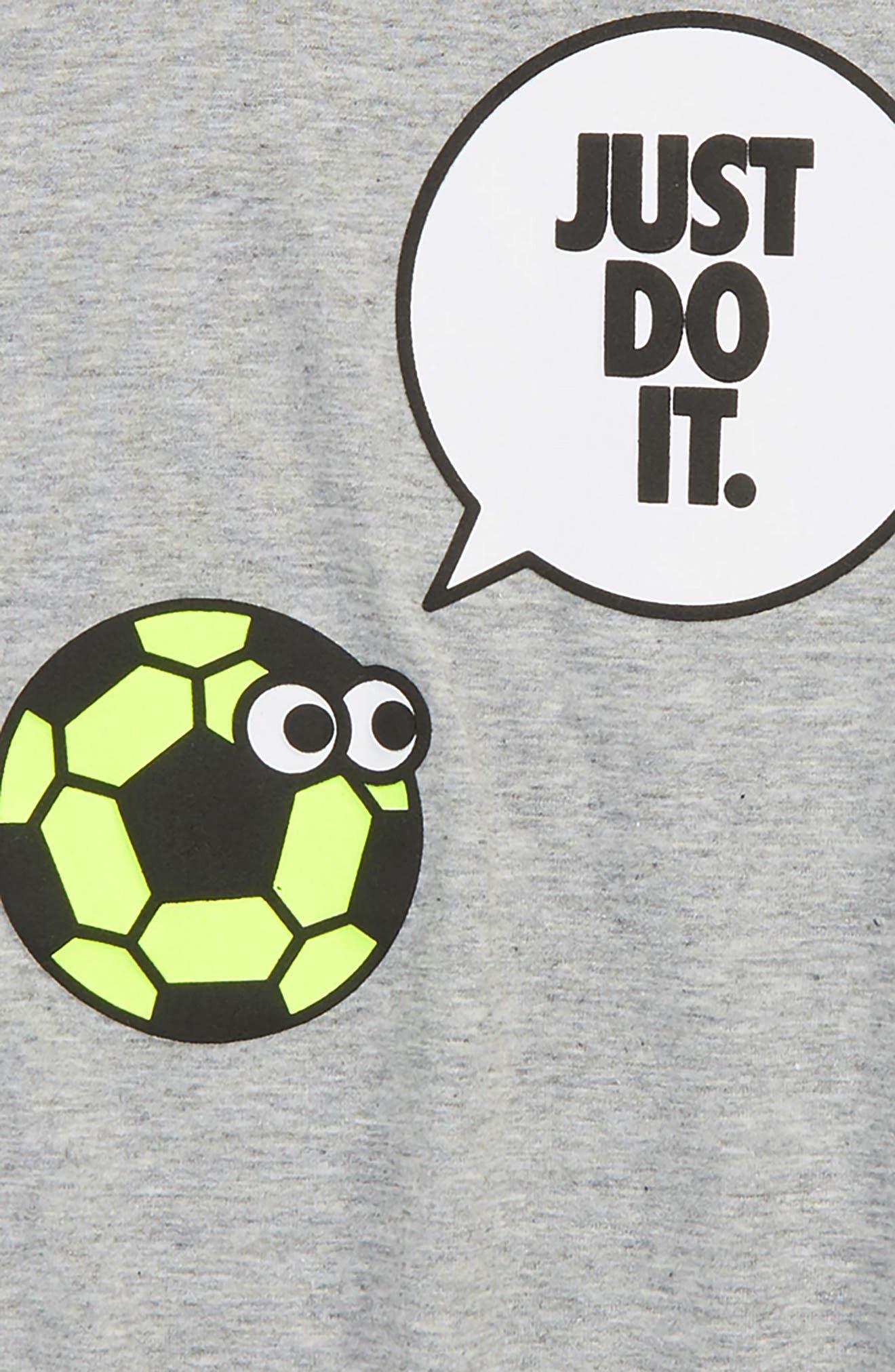 Dry Graphic T-Shirt,                             Alternate thumbnail 2, color,                             Dark Grey Heather/ Volt