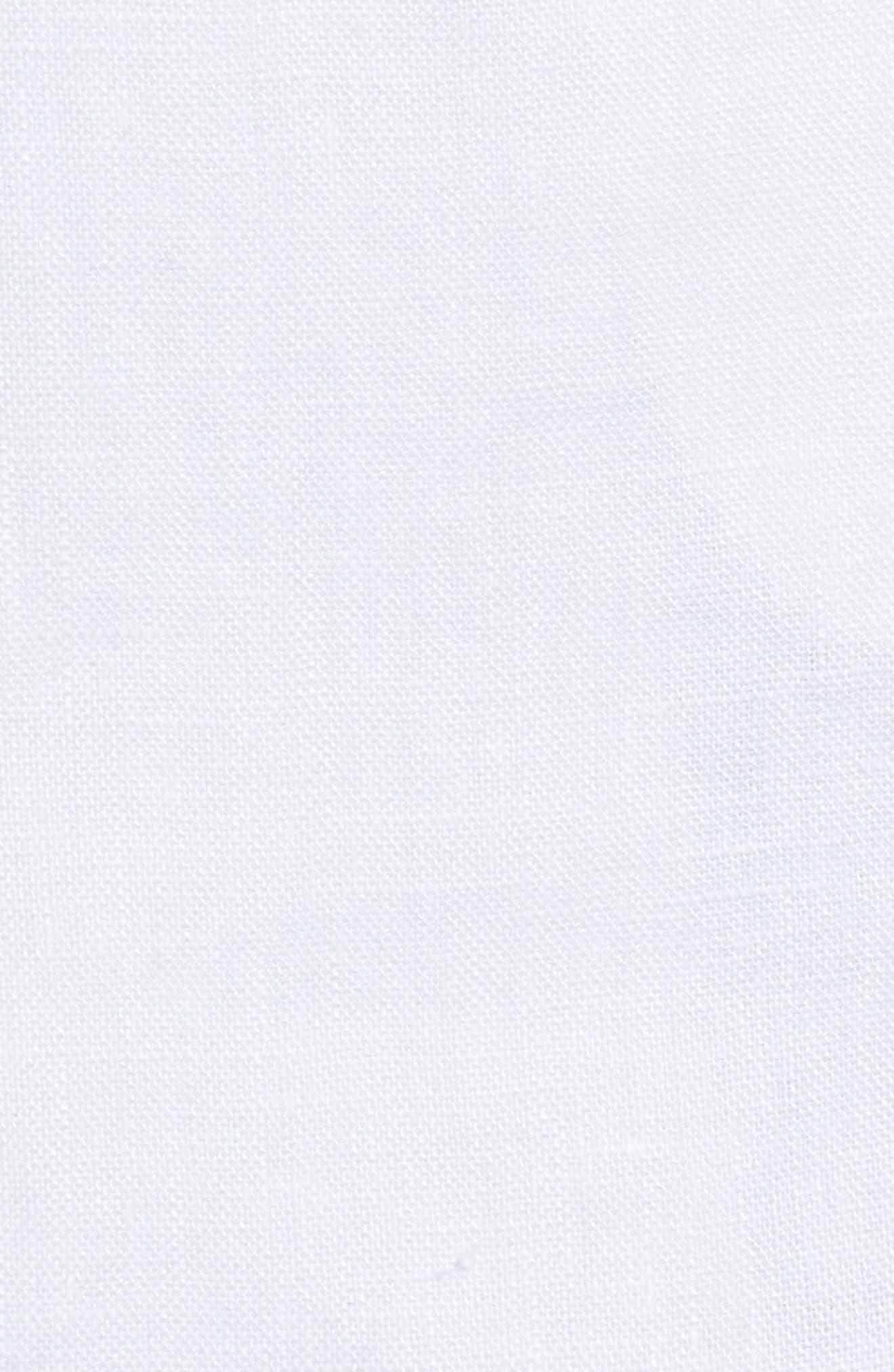 Linen Blend Blazer,                             Alternate thumbnail 5, color,                             White