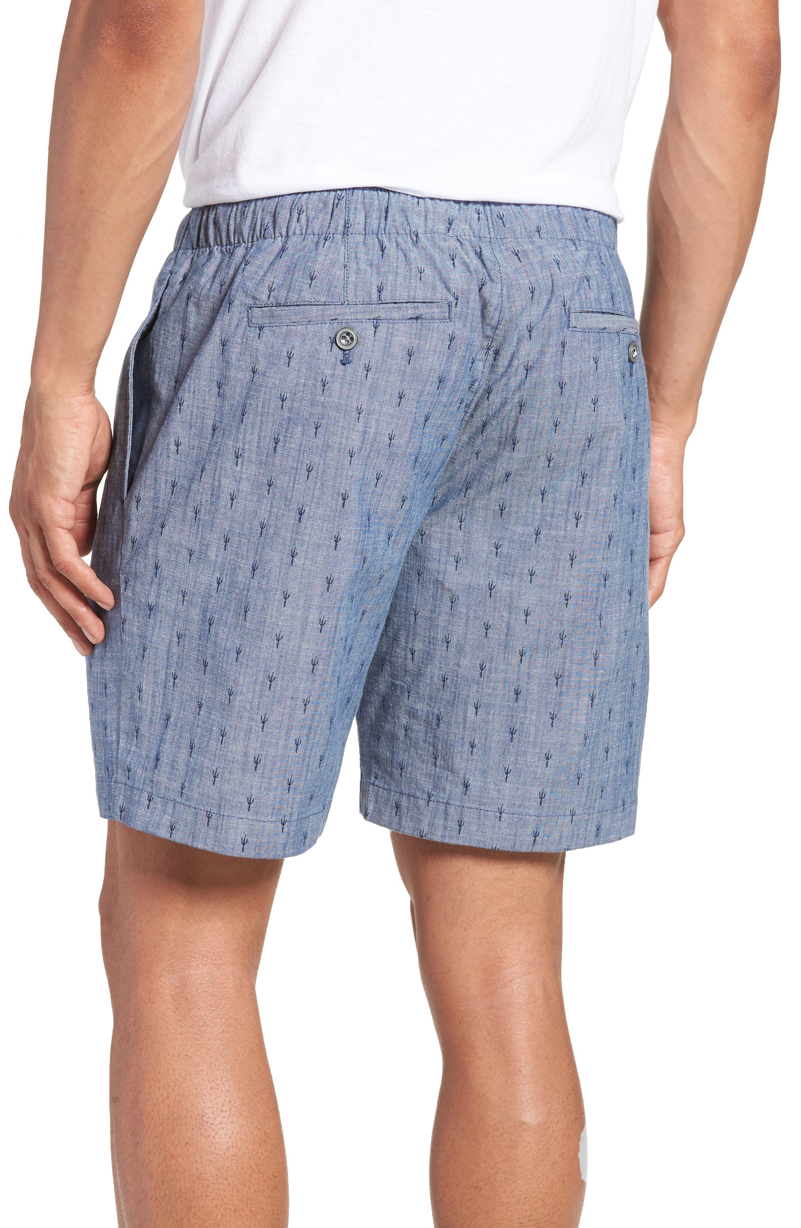 Slim Fit Print Beach Shorts,                             Alternate thumbnail 2, color,                             Cacti Stamp
