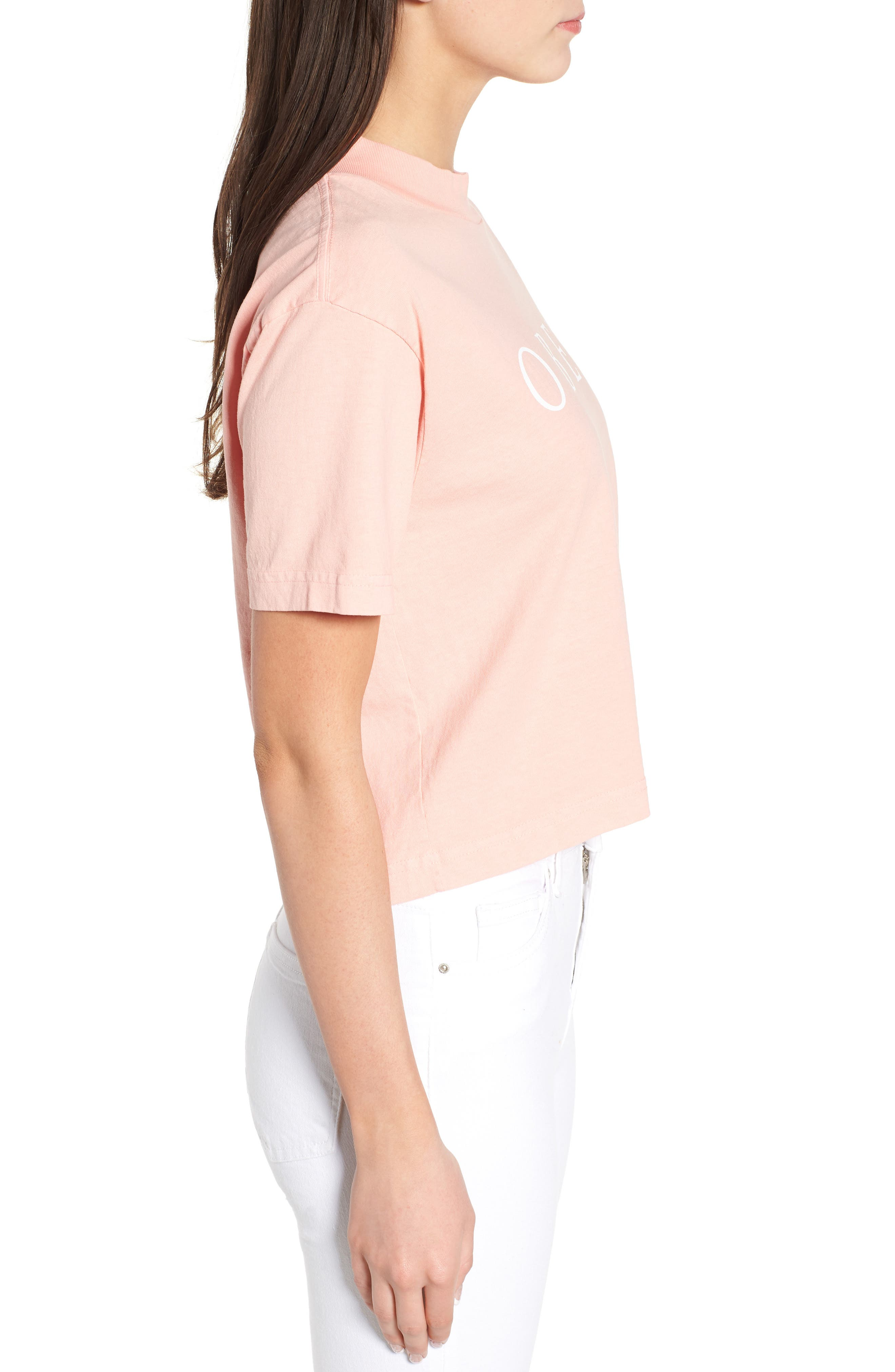 Novel Obey II Crop Tee,                             Alternate thumbnail 5, color,                             Peach