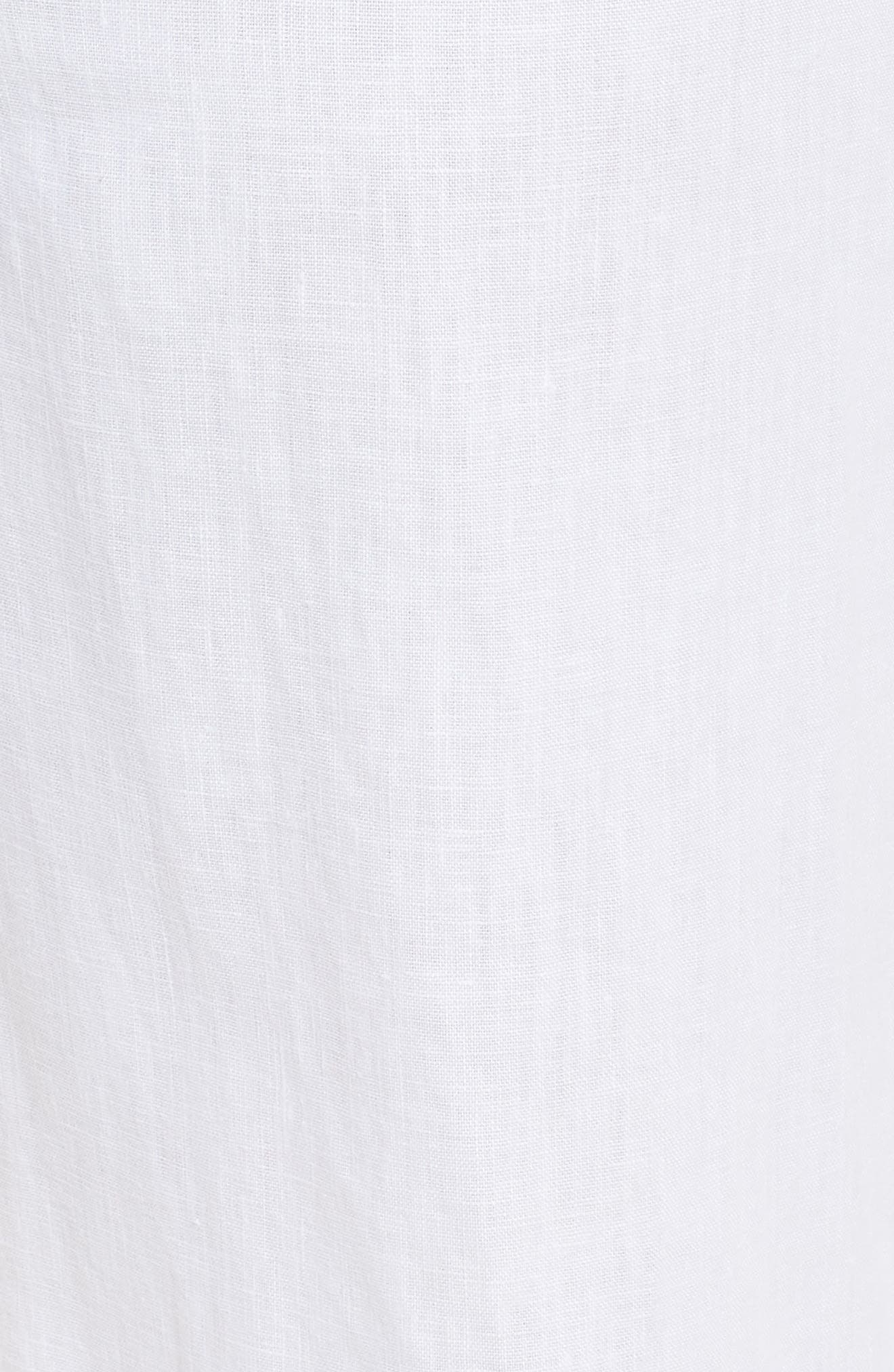 Wide Leg Linen Pants,                             Alternate thumbnail 6, color,                             Ultra White