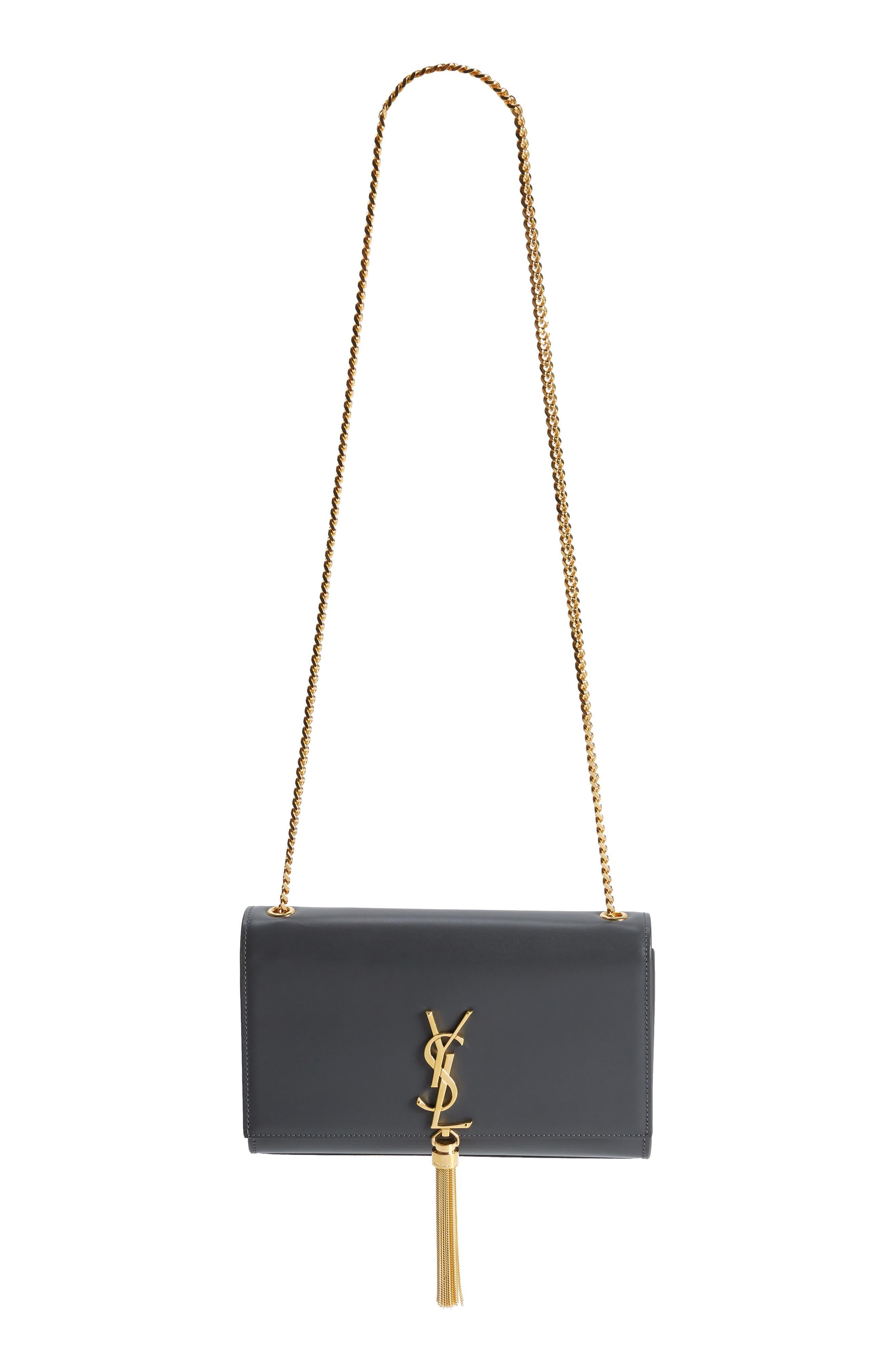 Saint Laurent 'Medium Monogram' Leather Shoulder Bag