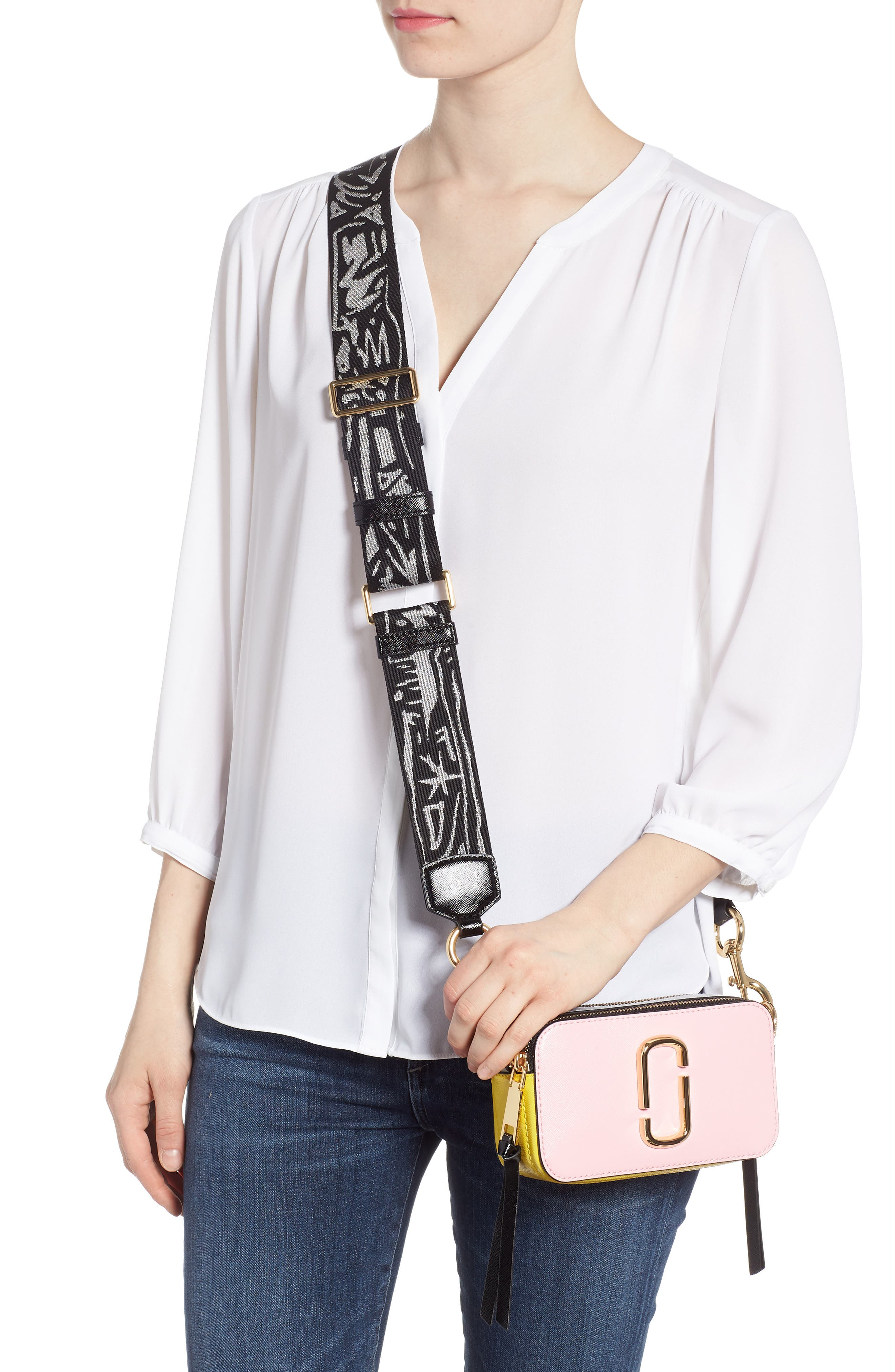Snapshot Crossbody Bag,                             Alternate thumbnail 2, color,                             Baby Pink Multi