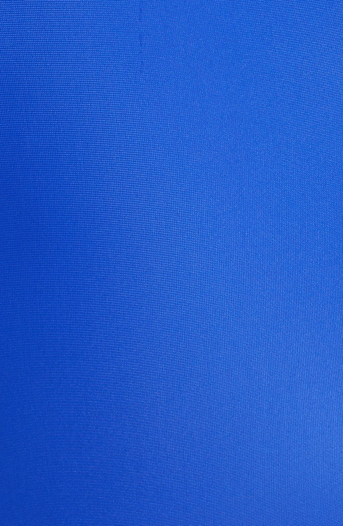 Mesh Side One-Piece Swimsuit,                             Alternate thumbnail 5, color,                             Blue/ Black